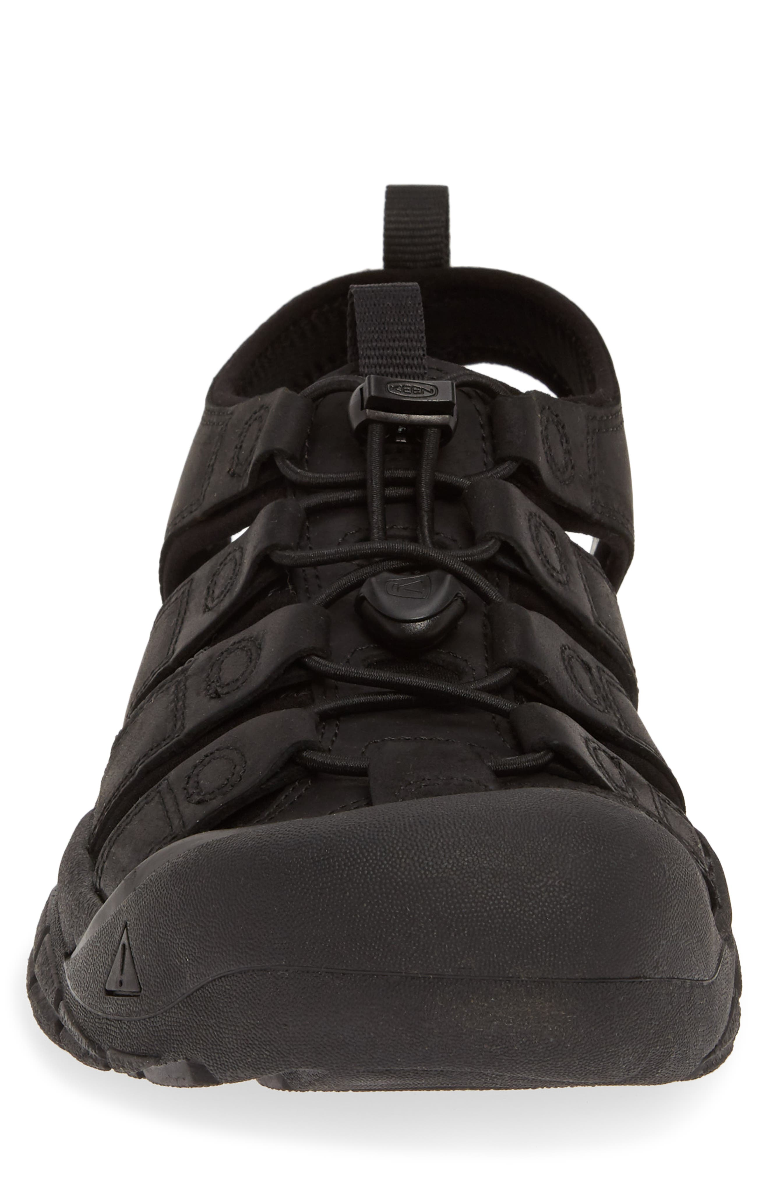 KEEN, 'Newport' Sandal, Alternate thumbnail 4, color, BLACK/ BLACK