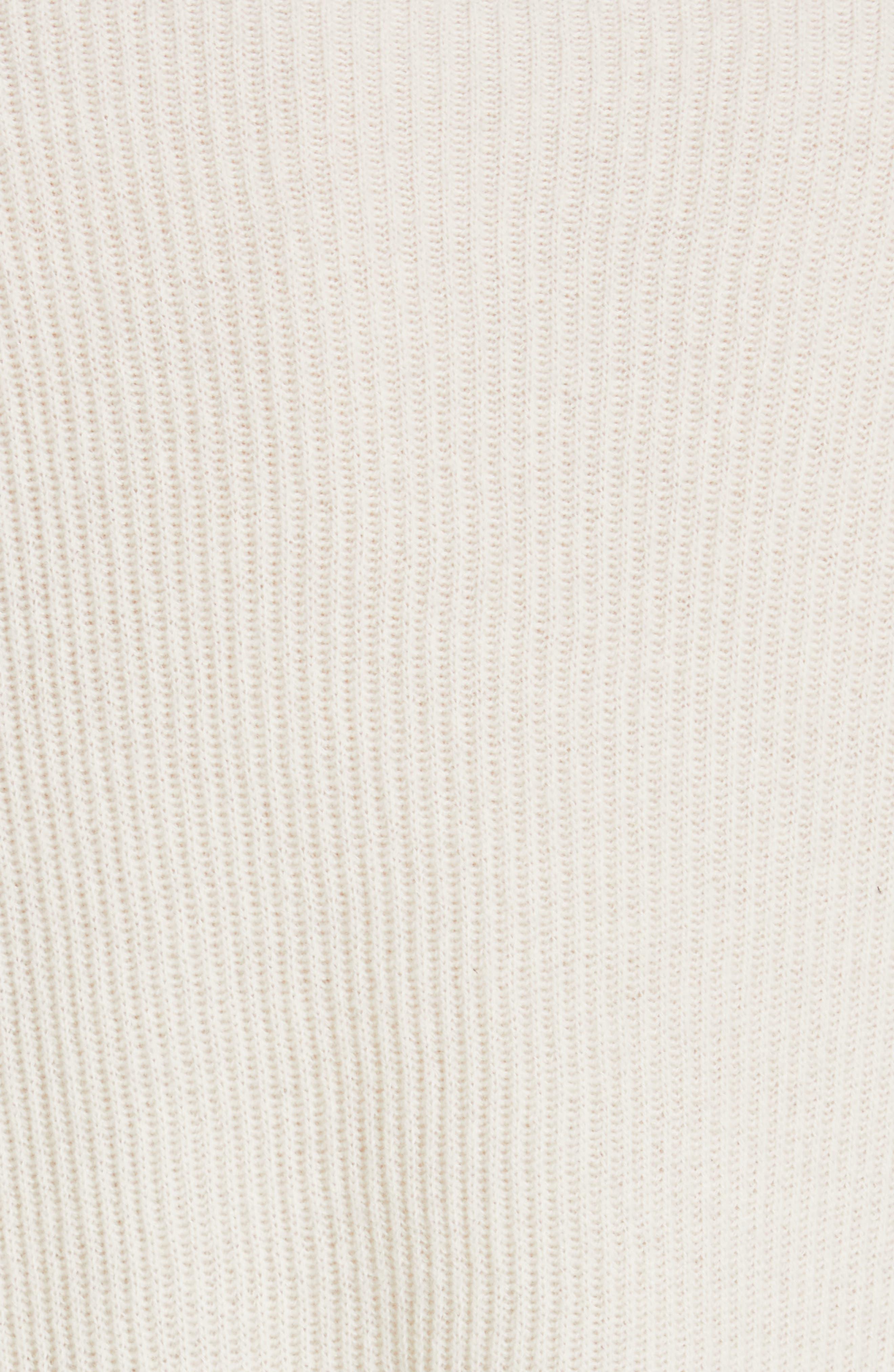 NILI LOTAN, Hadis Cashmere Sweater, Alternate thumbnail 5, color, IVORY