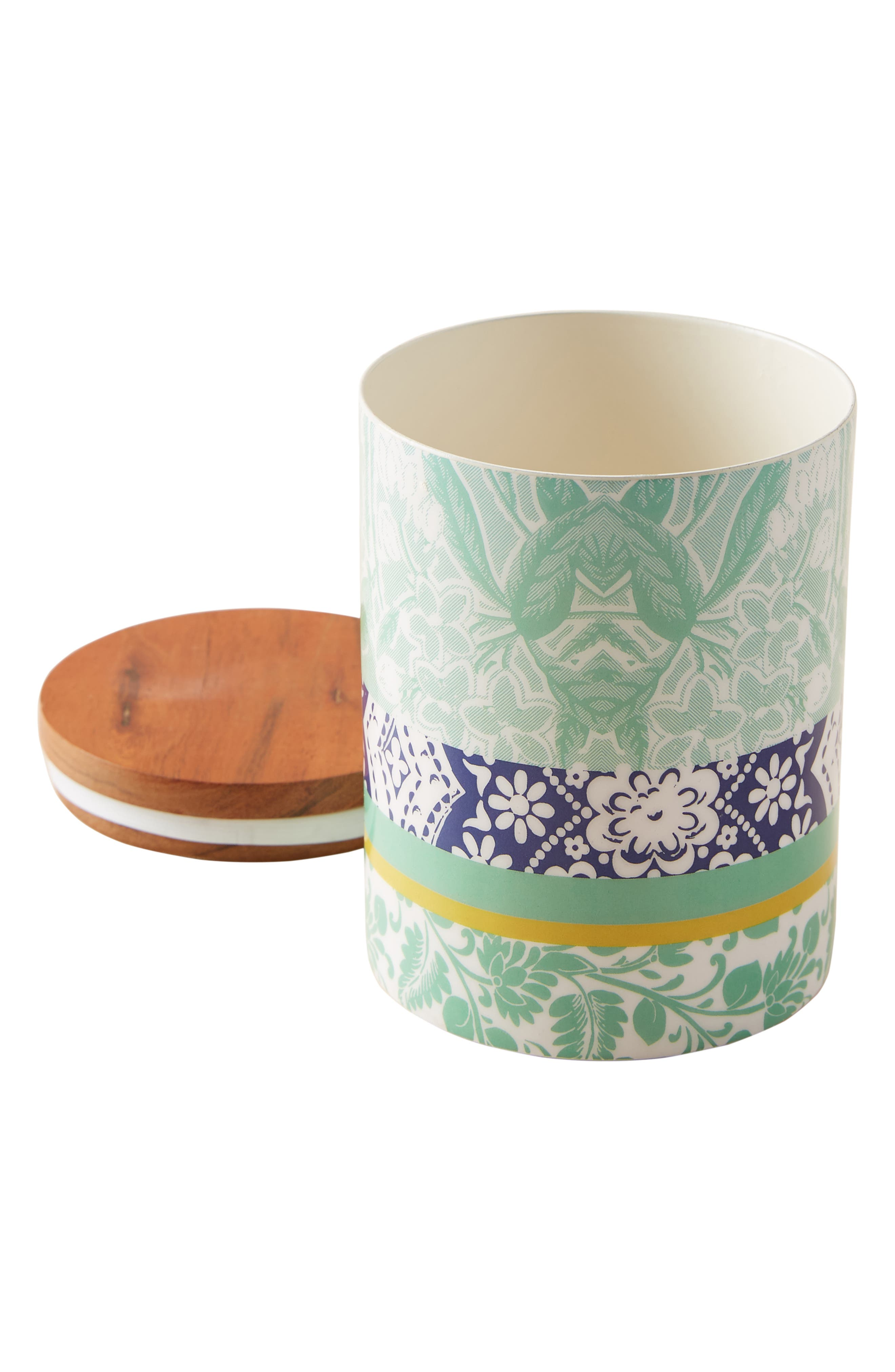 ANTHROPOLOGIE, Jacquard Canister, Alternate thumbnail 4, color, 440