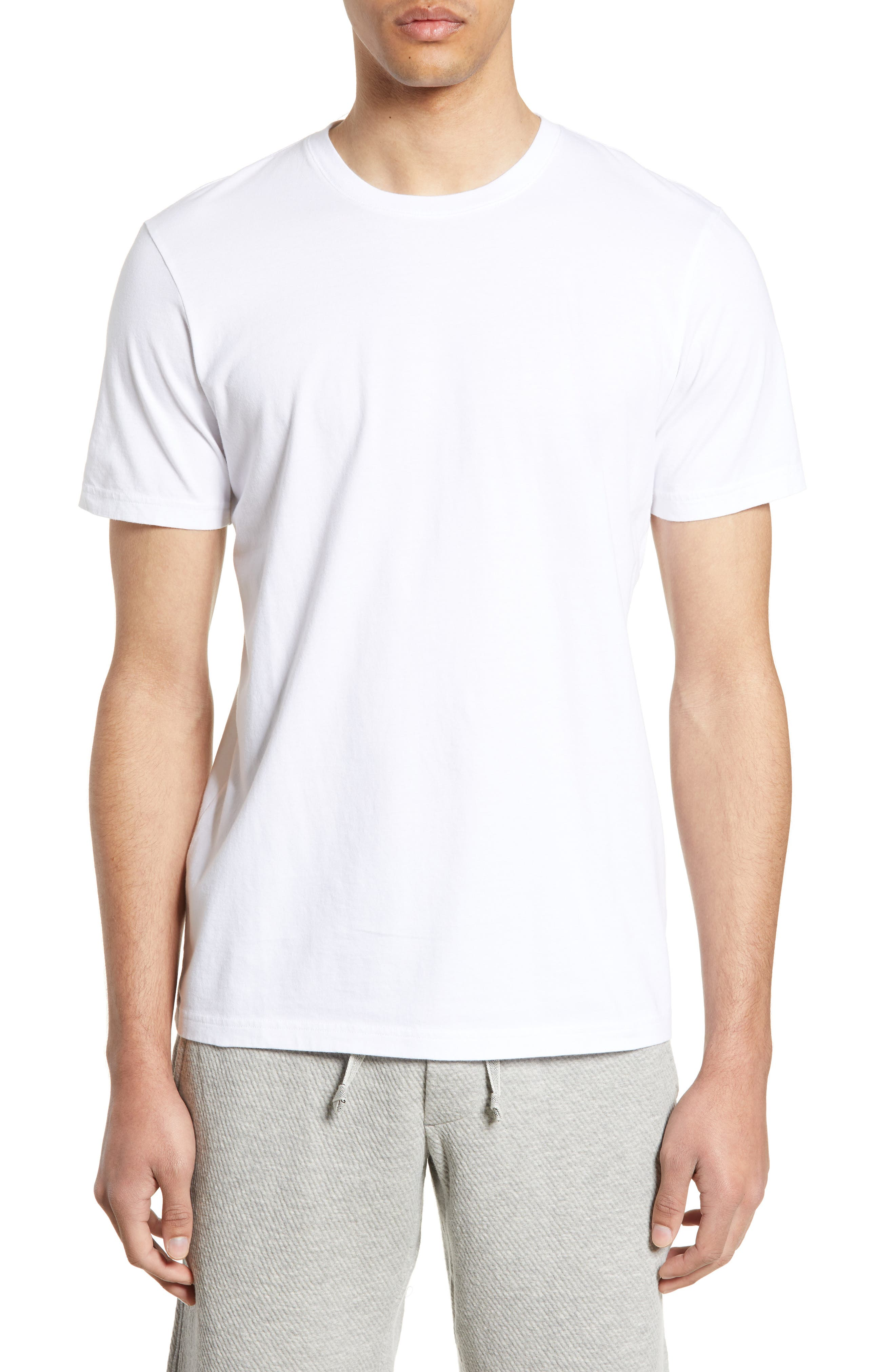 WINGS + HORNS Short Sleeve Crewneck T-Shirt, Main, color, WHITE