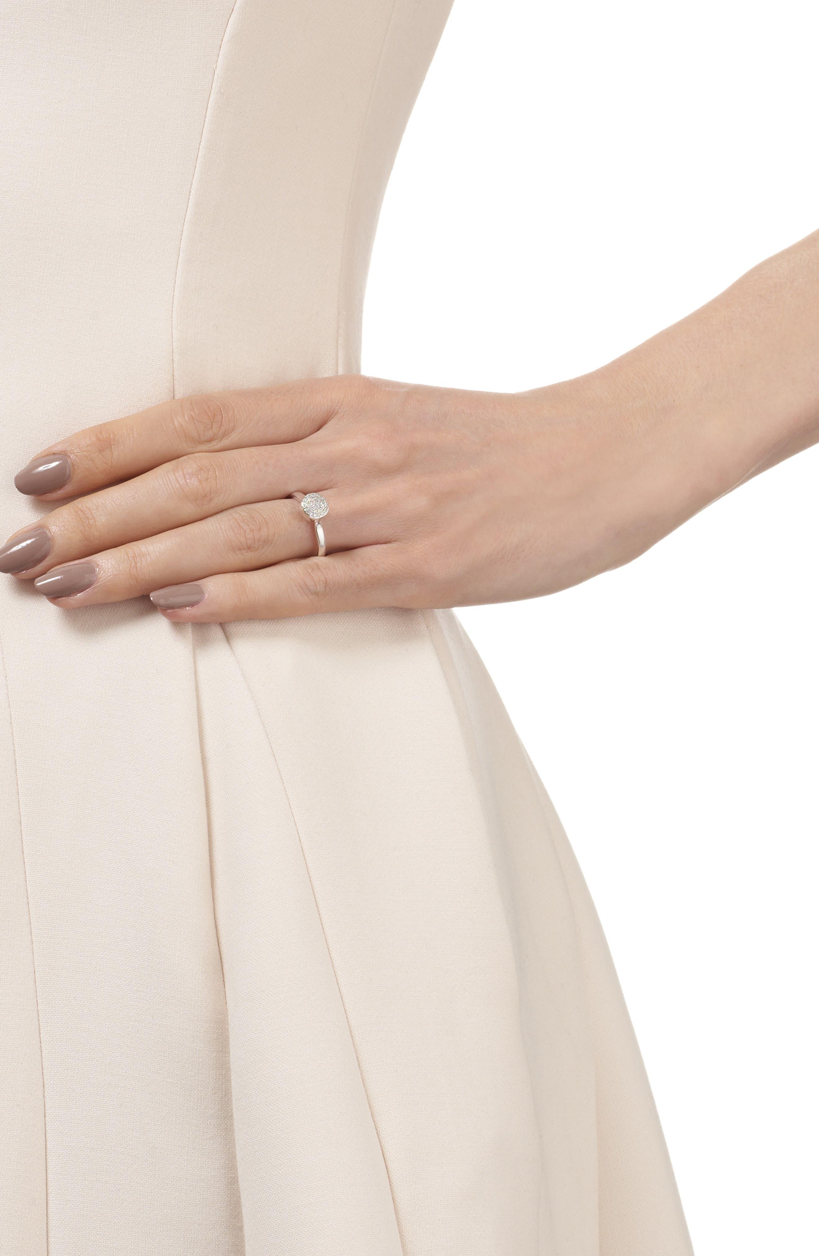 MONICA VINADER, Ava Diamond Button Ring, Alternate thumbnail 2, color, SILVER