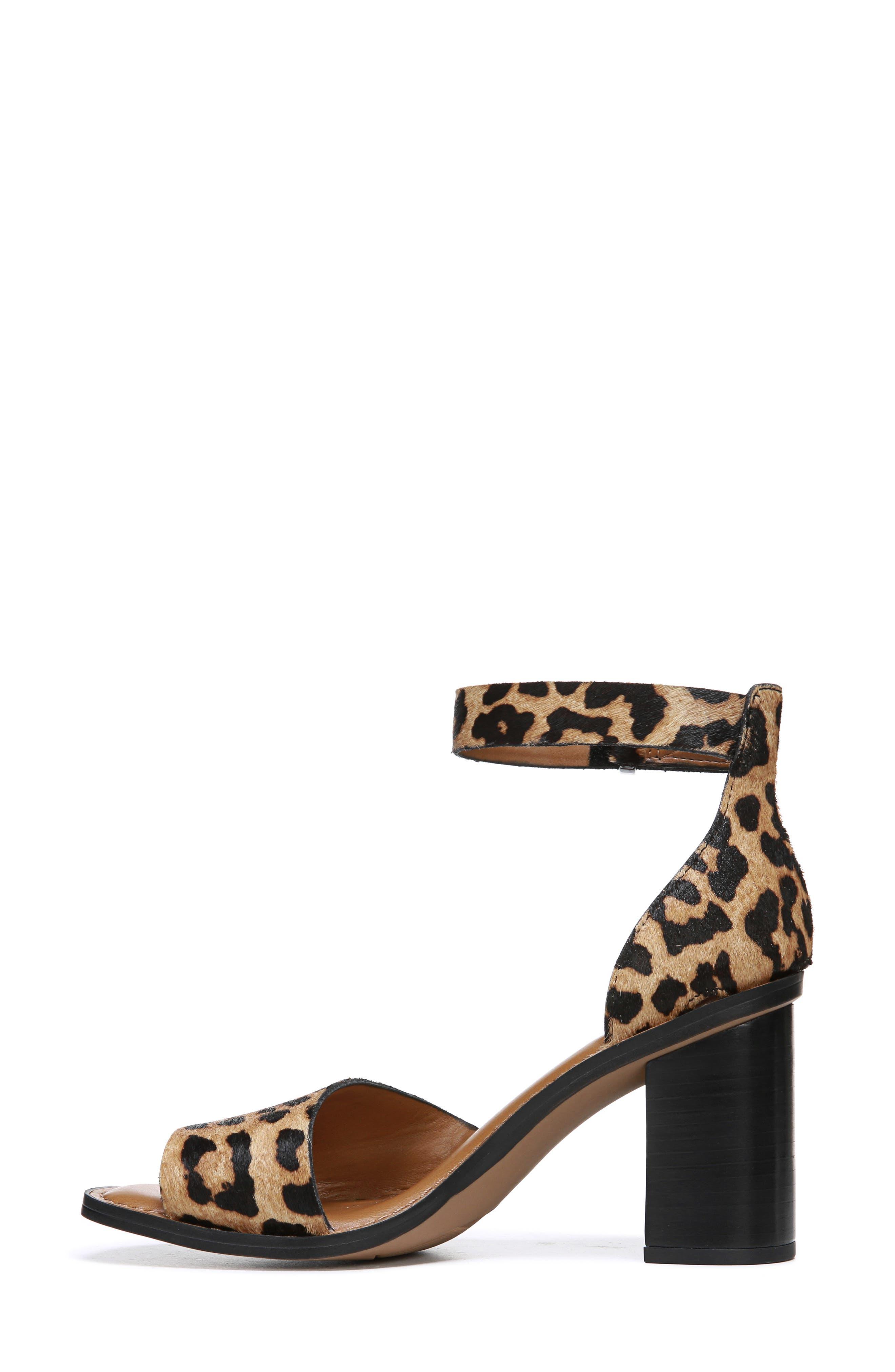 FRANCO SARTO, Caia Ankle Strap Sandal, Alternate thumbnail 8, color, BROWN CALF HAIR