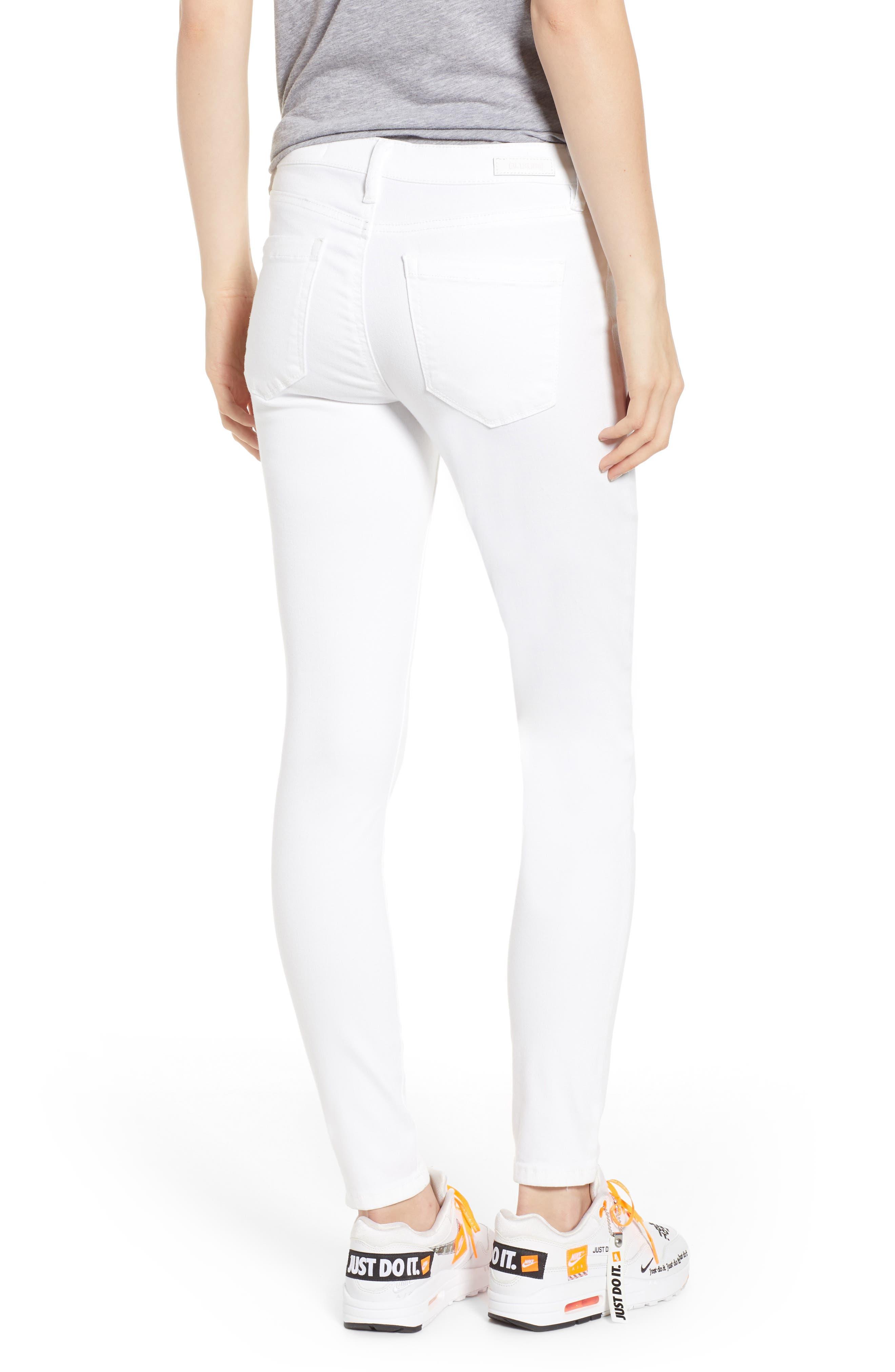 BLANKNYC, Skinny Jeans, Alternate thumbnail 2, color, GREAT WHITE