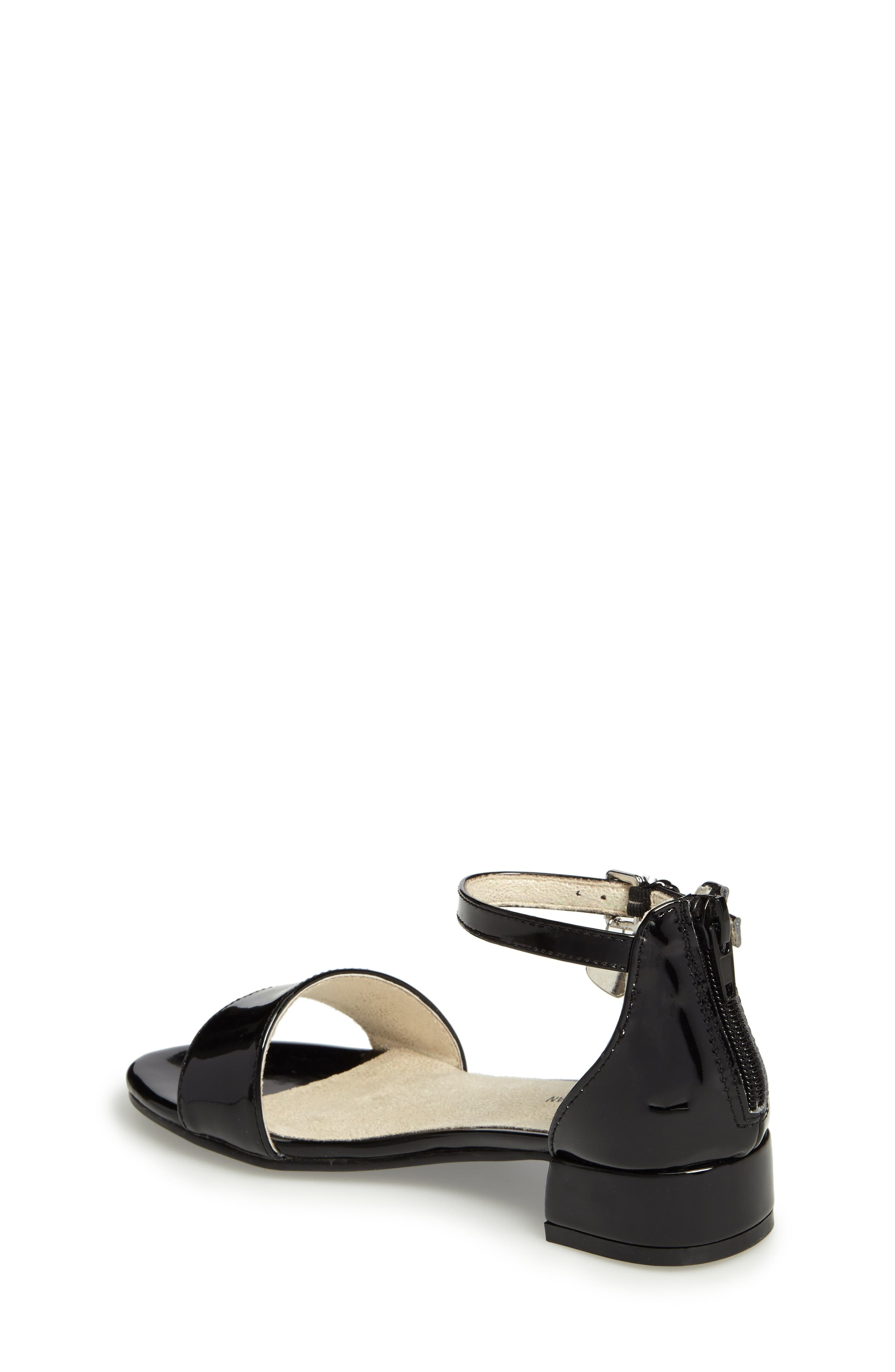 STUART WEITZMAN, Penelope Nola Sandal, Alternate thumbnail 2, color, BLACK FAUX PATENT