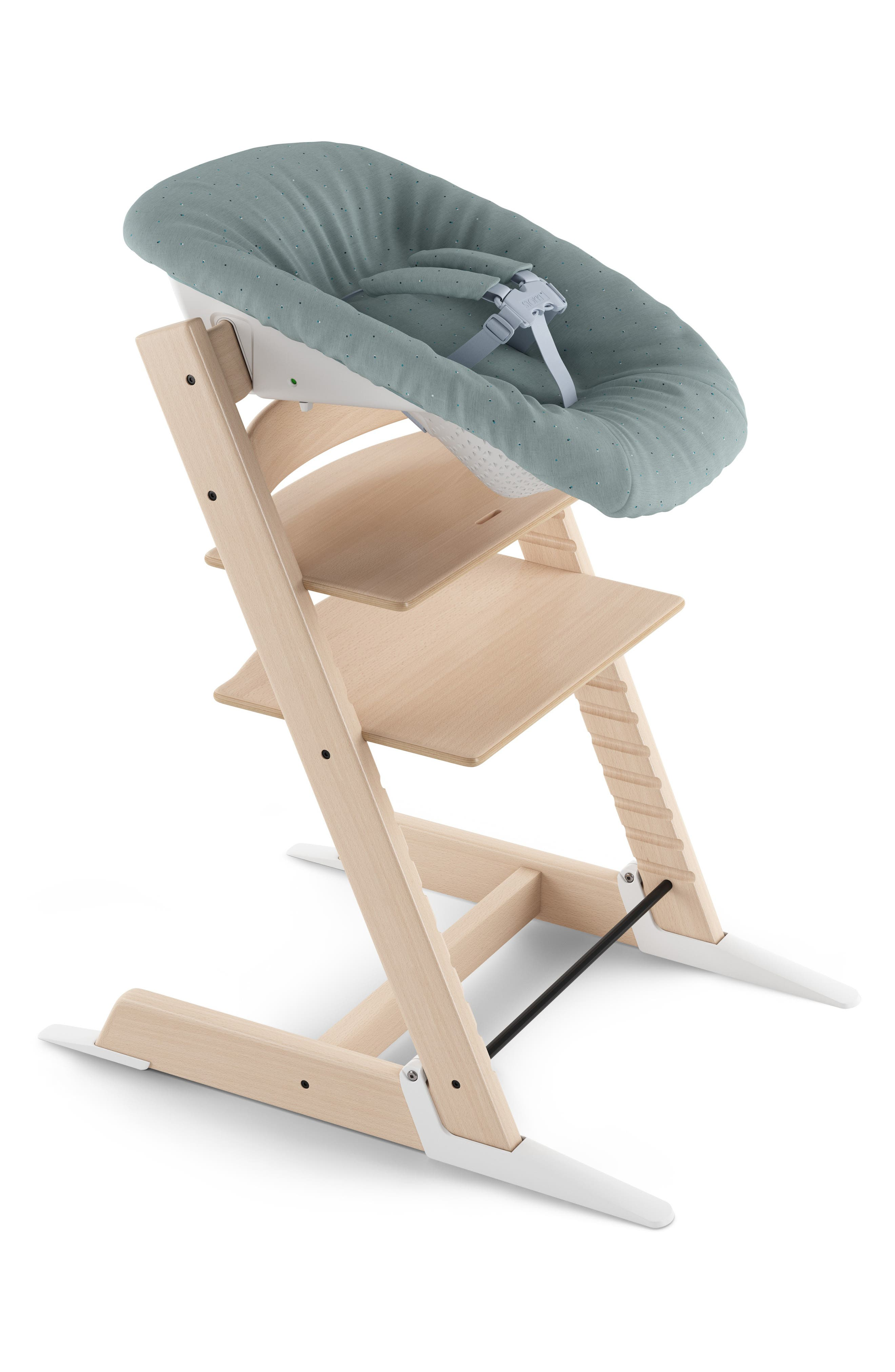 STOKKE, Upholstery Cover for Tripp Trapp Newborn Set Attachment, Main thumbnail 1, color, JADE CONFETTI