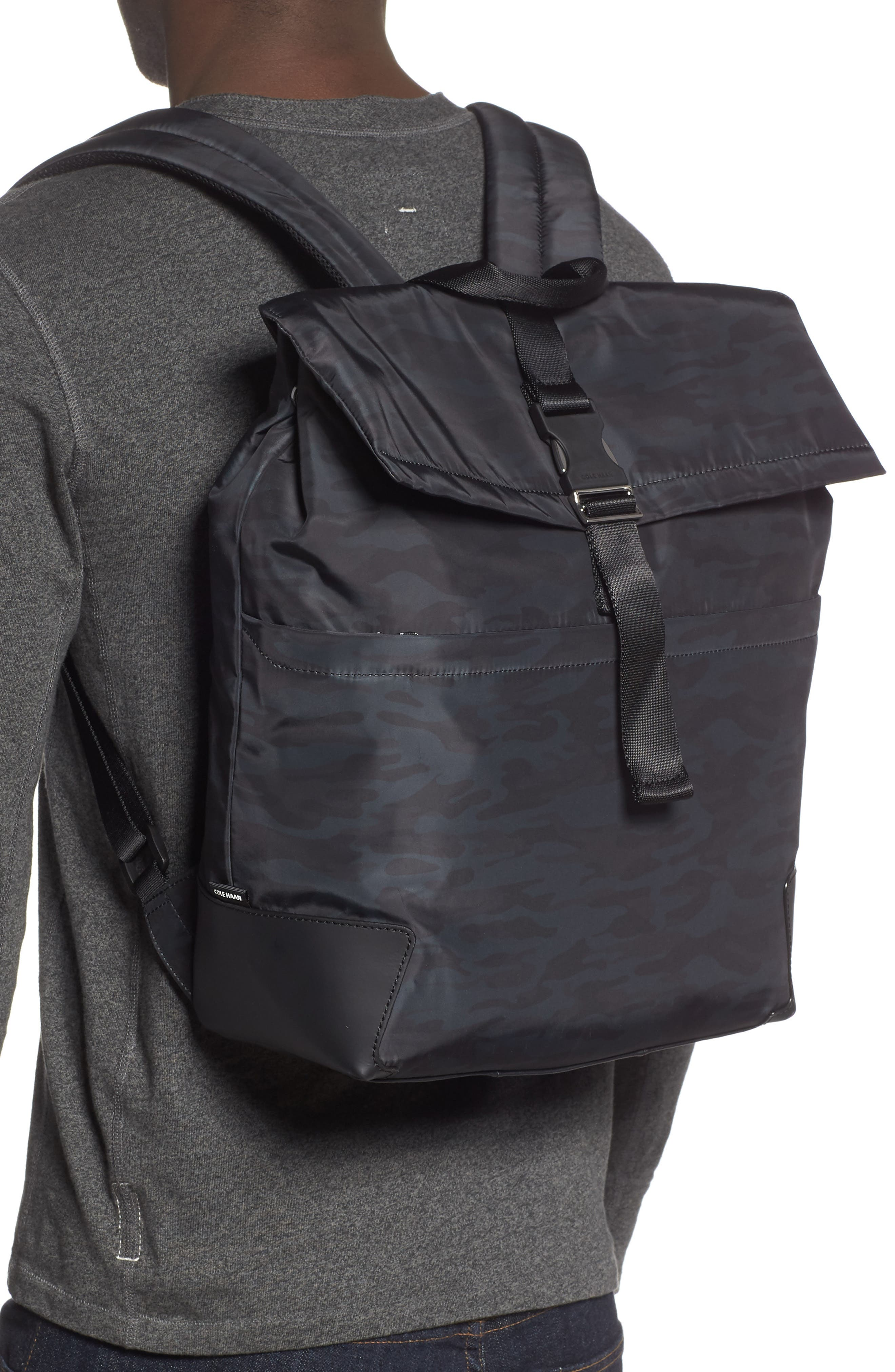 COLE HAAN, Sawyer Laptop Backpack, Alternate thumbnail 2, color, CAMO