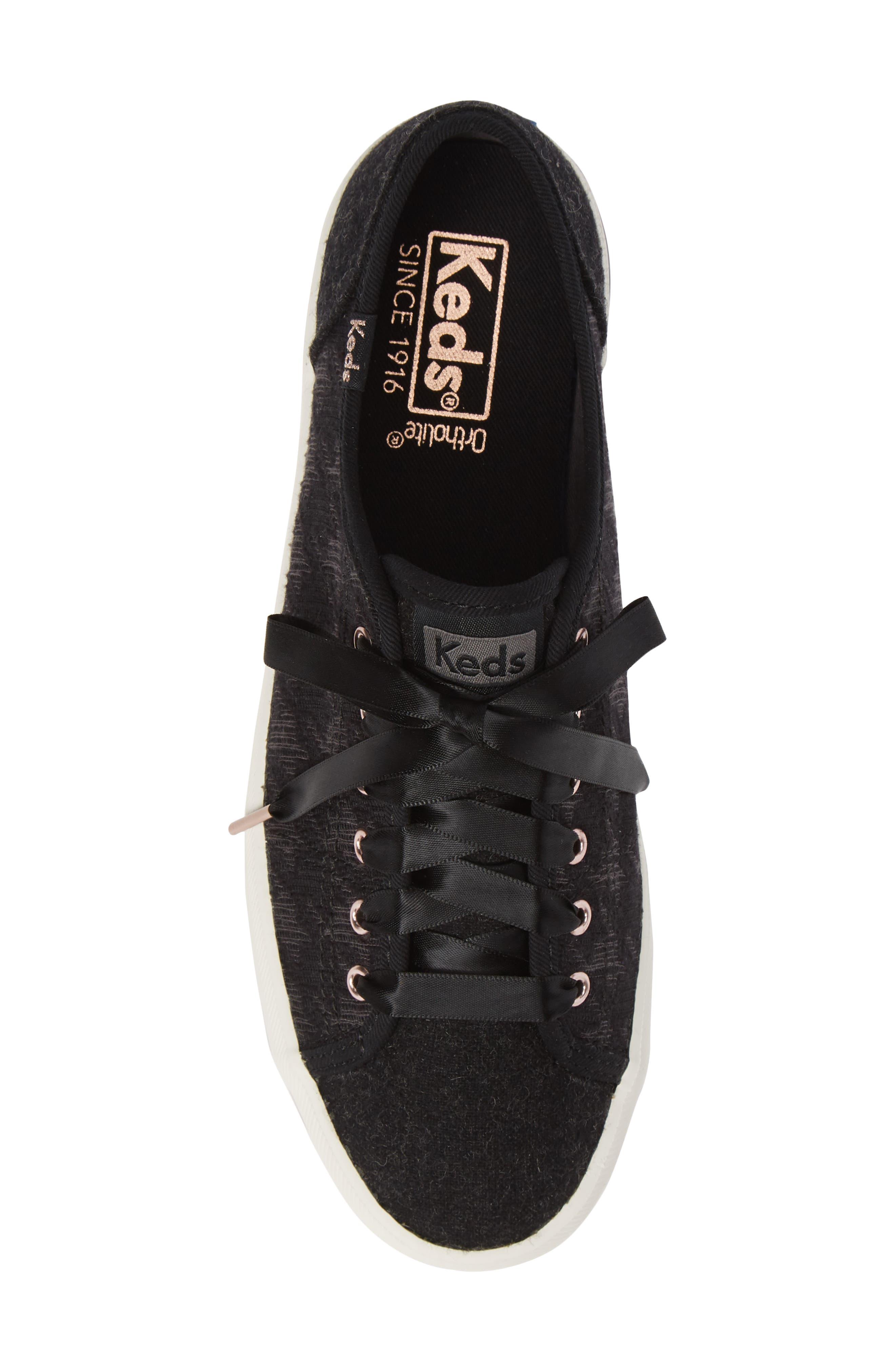 KEDS<SUP>®</SUP>, Kickstart Sneaker, Alternate thumbnail 5, color, BLACK HOUNDSTOOTH