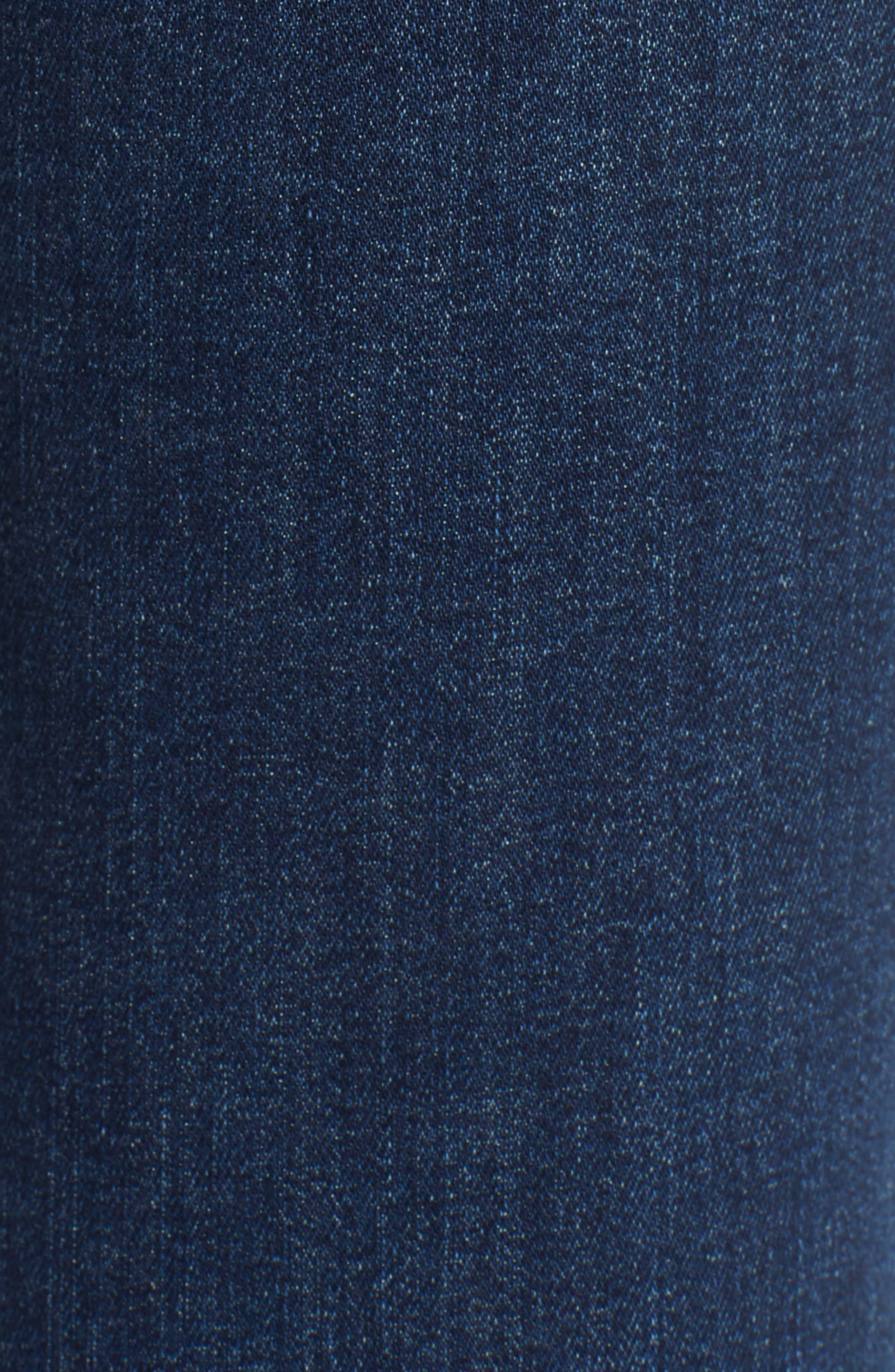 LEVI'S<SUP>®</SUP>, 721<sup>™</sup> Ripped High Waist Skinny Jeans, Alternate thumbnail 6, color, INDIGO LUNA