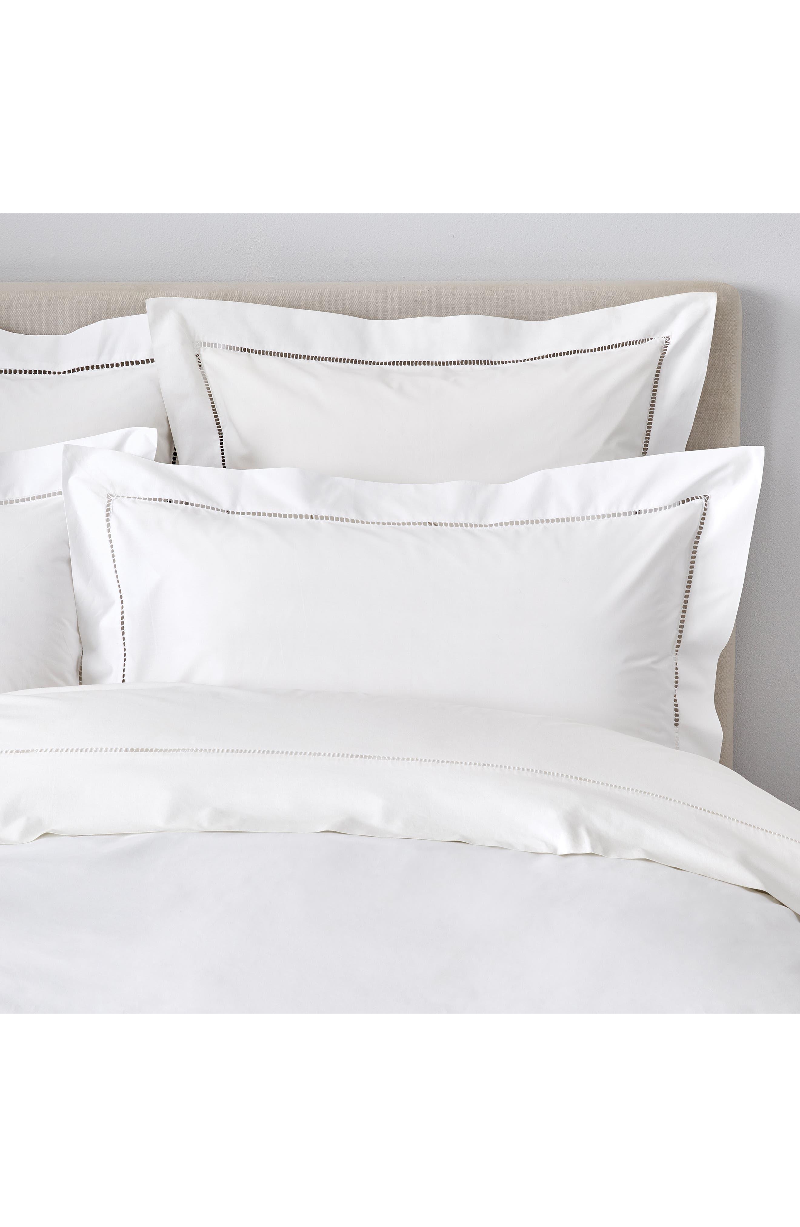 THE WHITE COMPANY, Santorini Cotton Flat Sheet, Alternate thumbnail 2, color, WHITE
