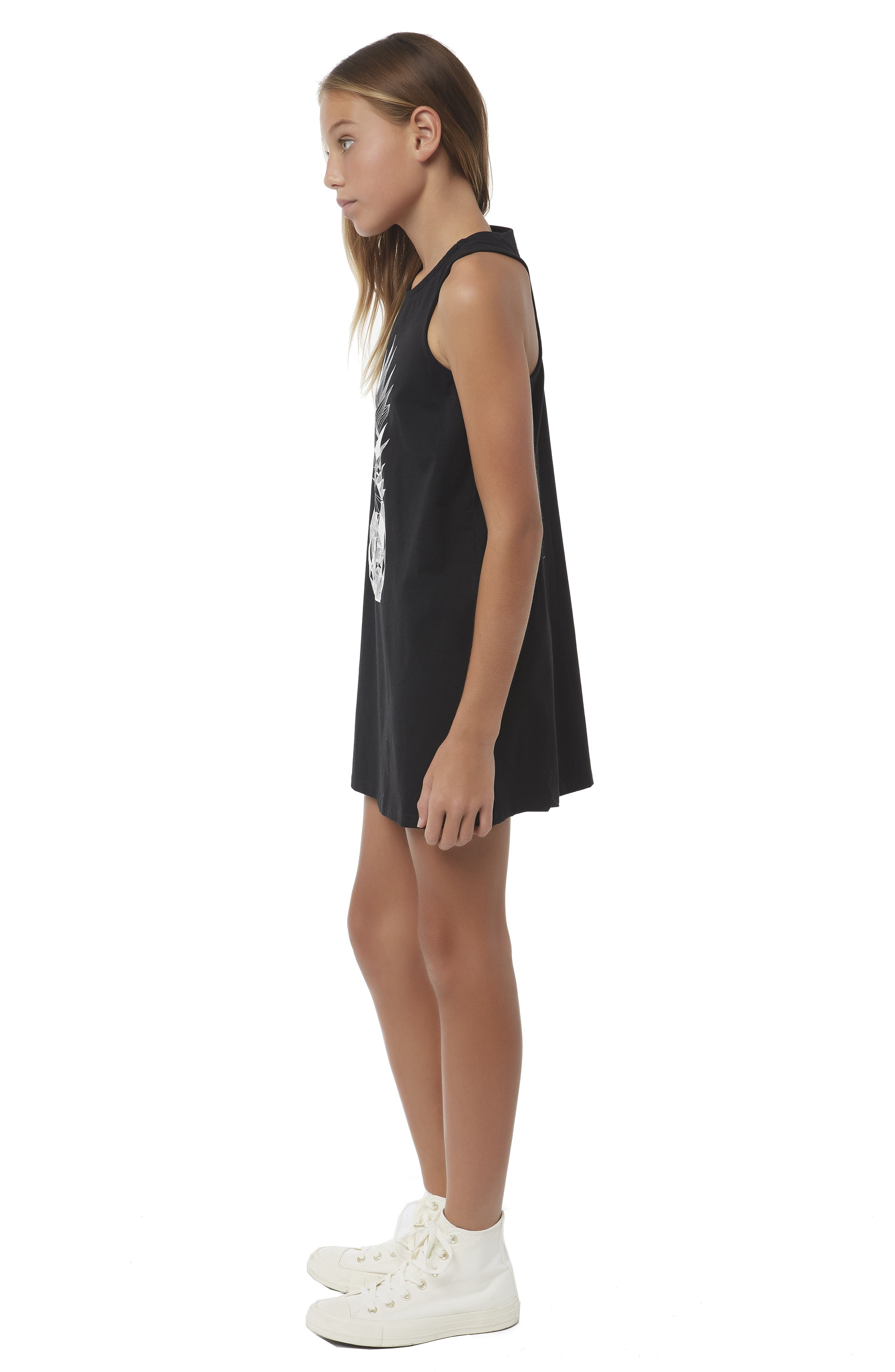O'NEILL, Cannon Knit Tank Dress, Alternate thumbnail 6, color, BLACK