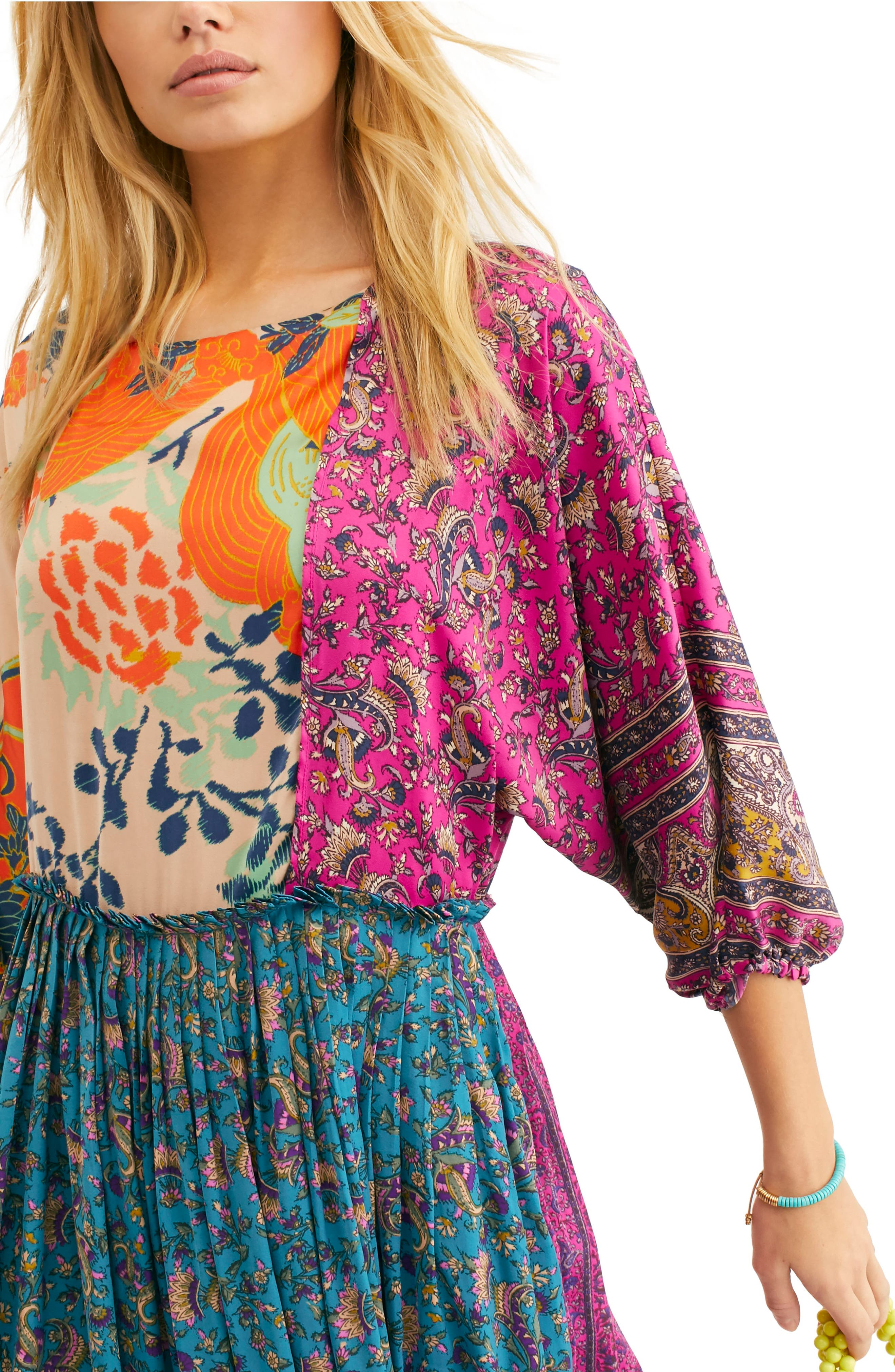 FREE PEOPLE, What You Want Maxi Dress, Alternate thumbnail 5, color, MULTI
