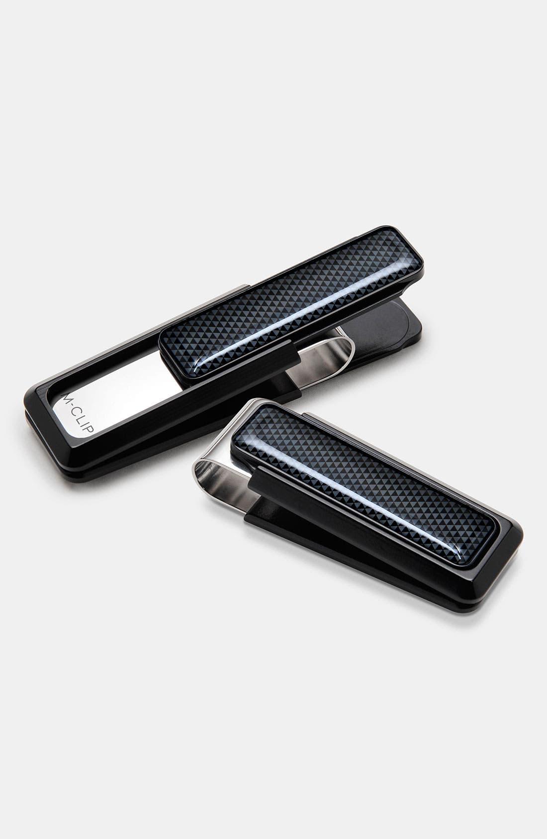 M-CLIP<SUP>®</SUP> 'Ultralight' Money Clip, Main, color, BLACK/ BLACK
