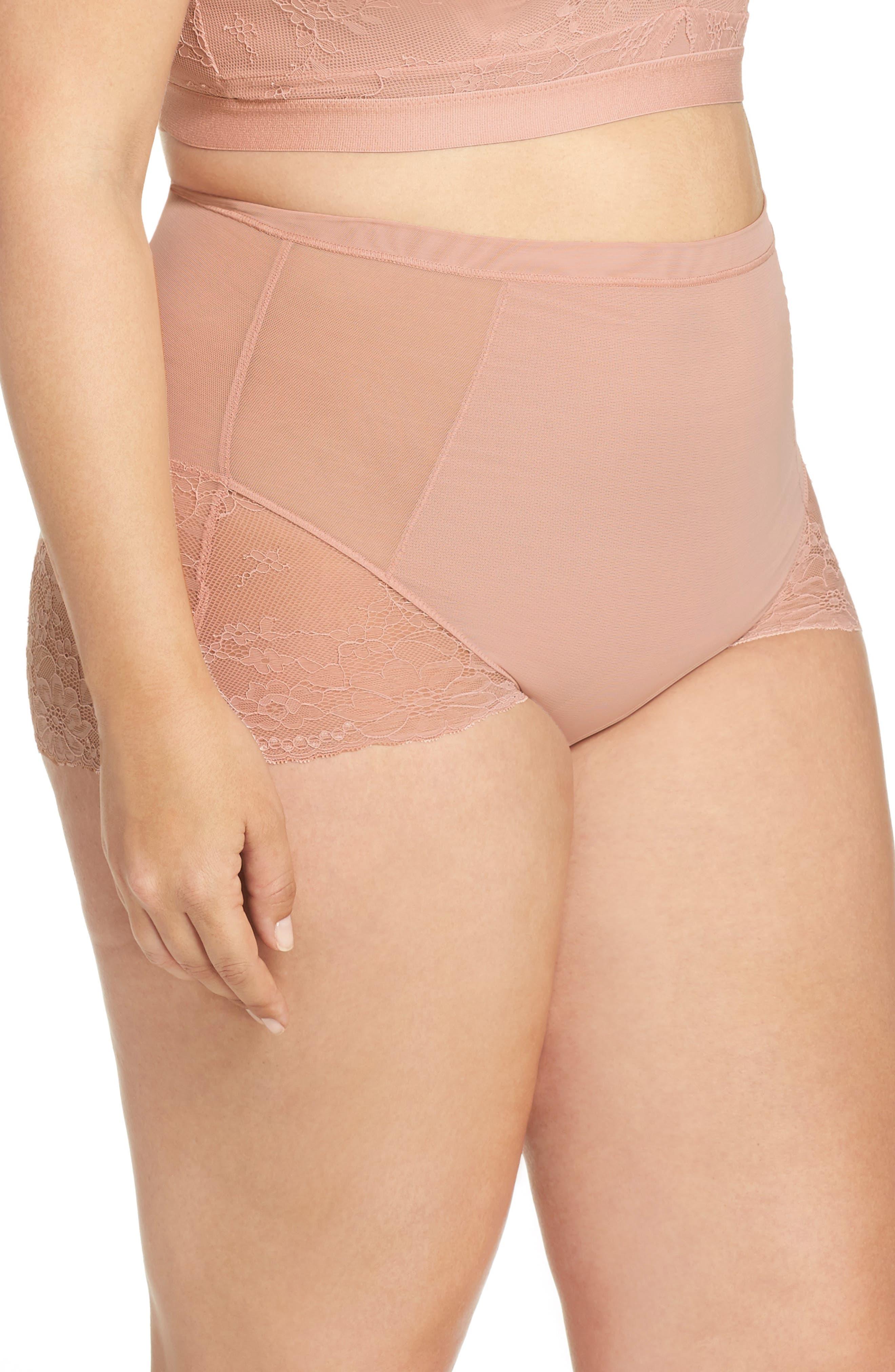 SPANX<SUP>®</SUP>, On Lace Briefs, Alternate thumbnail 3, color, VINTAGE ROSE