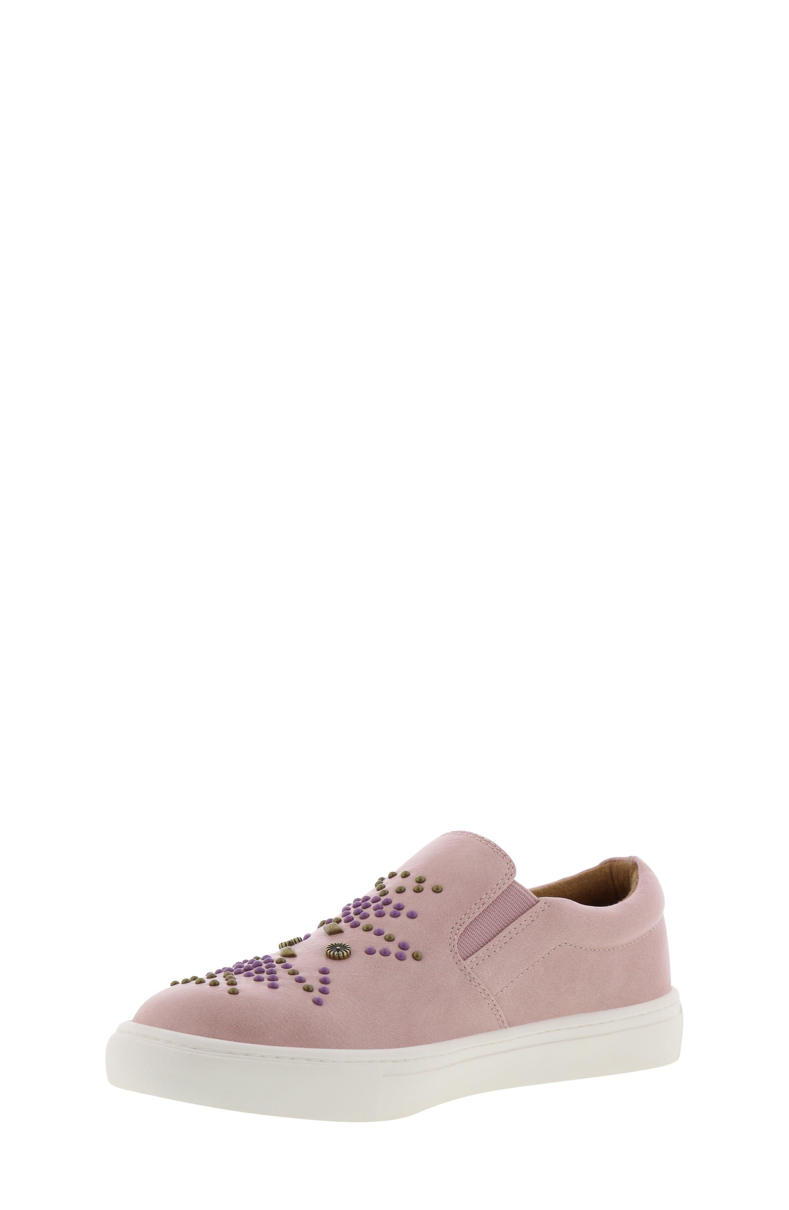 FRYE, Lena Studded Sneaker, Alternate thumbnail 9, color, 686
