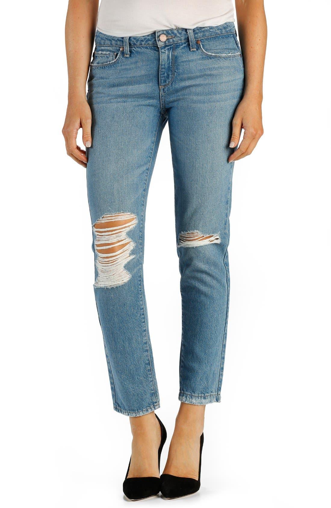 PAIGE Denim 'Jimmy Jimmy' Ankle Boyfriend Skinny Jeans, Main, color, 400