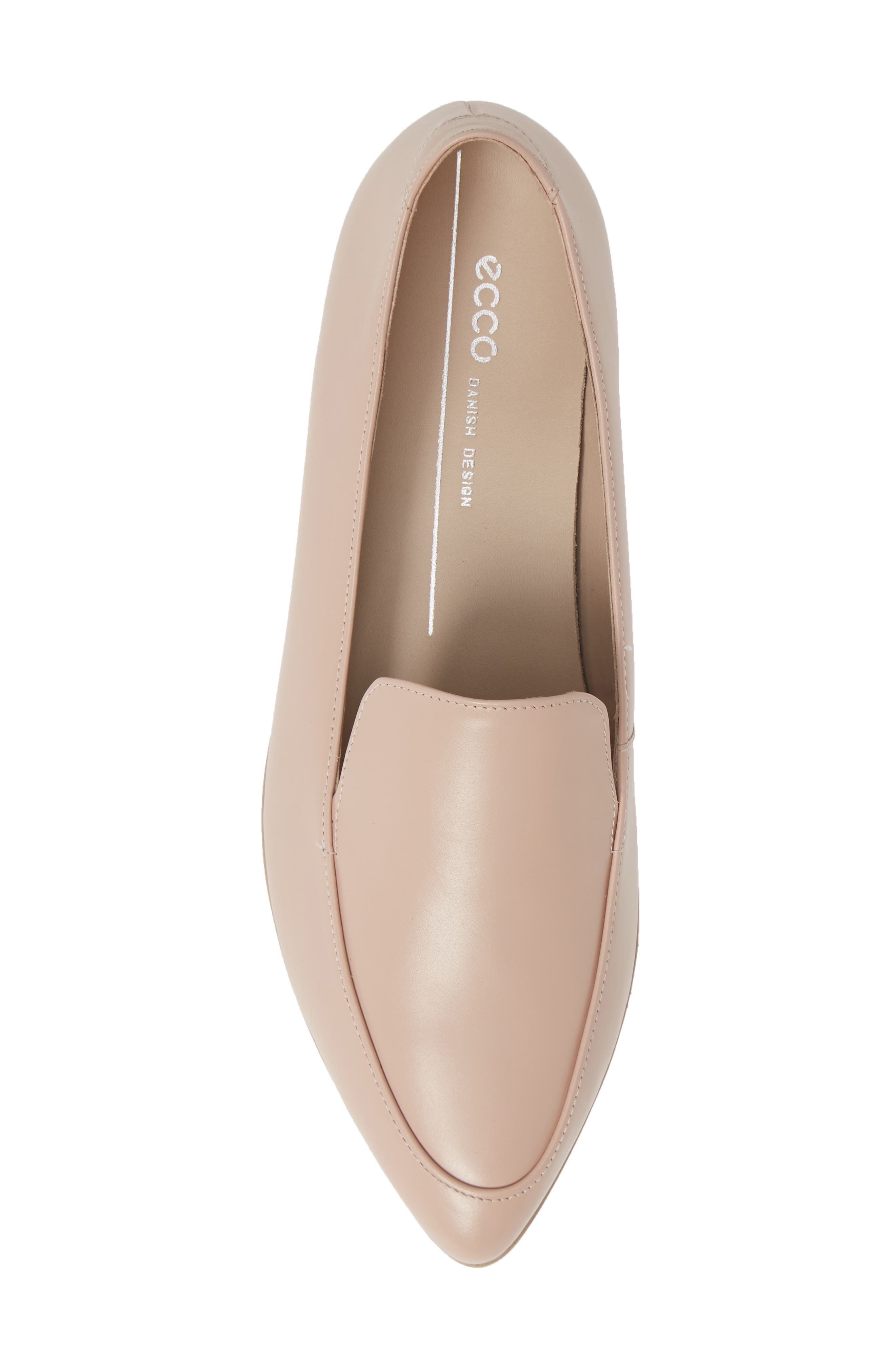 ECCO, Shape Pointy Ballerina II Flat, Alternate thumbnail 5, color, ROSE DUST LEATHER