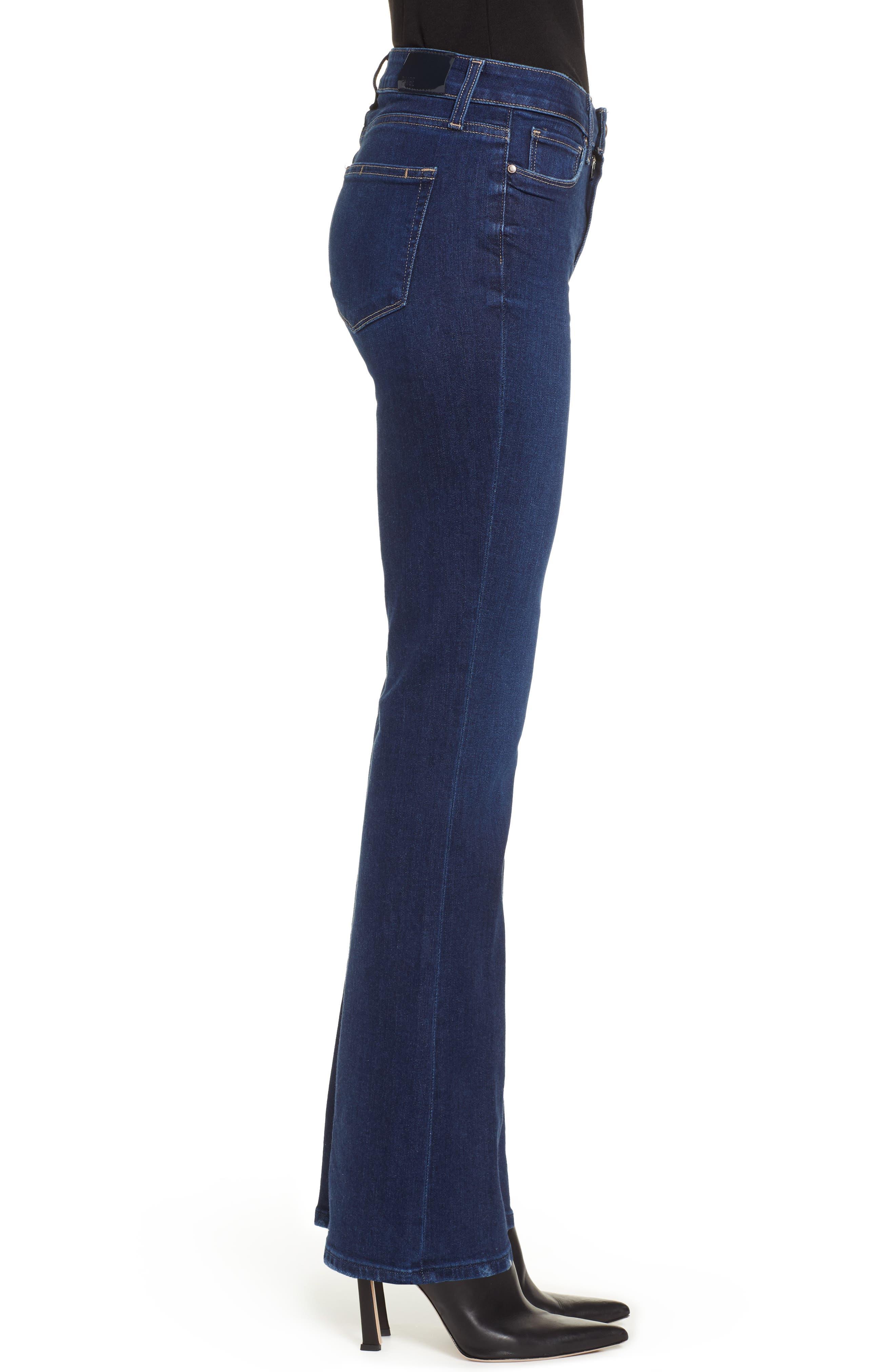 PAIGE, Transcend Vintage - Manhattan High Waist Bootcut Jeans, Alternate thumbnail 4, color, 400