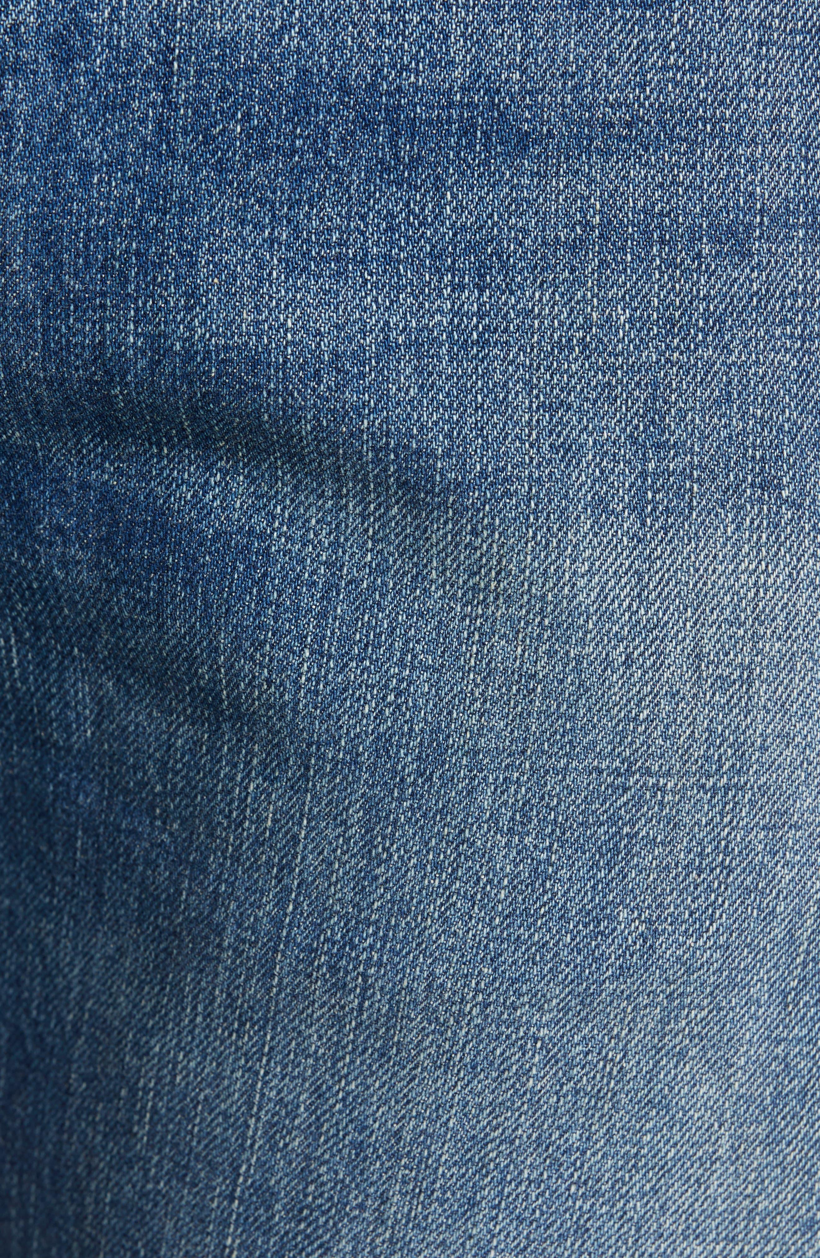 LEVI'S<SUP>®</SUP> VINTAGE CLOTHING, 1967 505<sup>™</sup> Slim Fit Selvedge Jeans, Alternate thumbnail 6, color, SPUTNIK