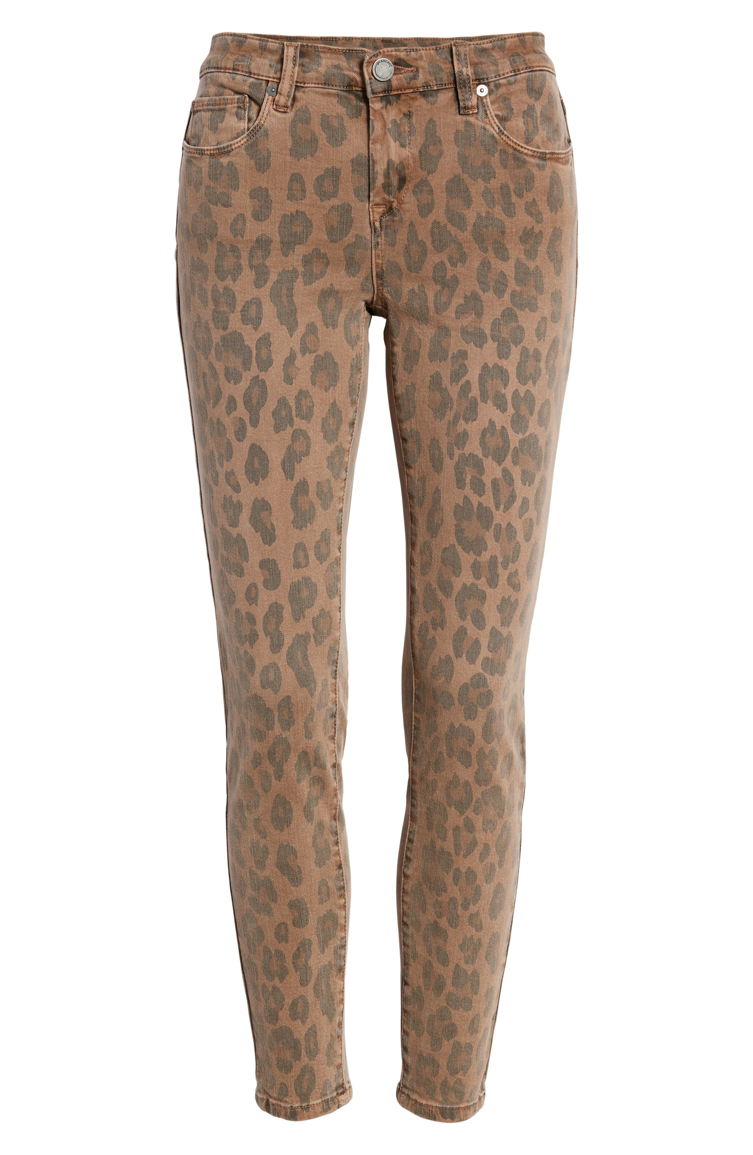BLANKNYC, The Reade Leopard Crop Skinny Jeans, Alternate thumbnail 7, color, CATWALK