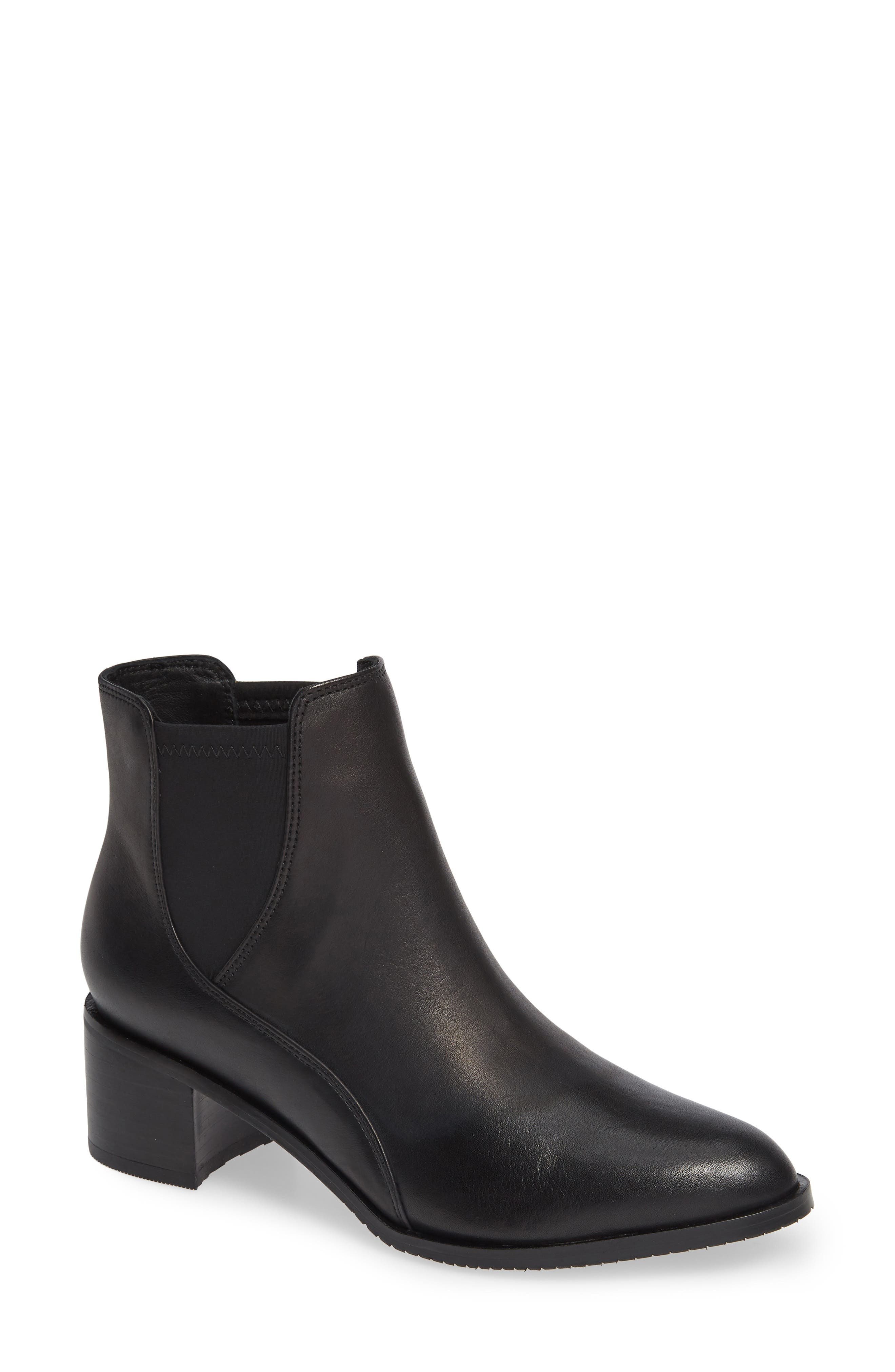 CLARKS<SUP>®</SUP> Poise Lola Bootie, Main, color, BLACK LEATHER