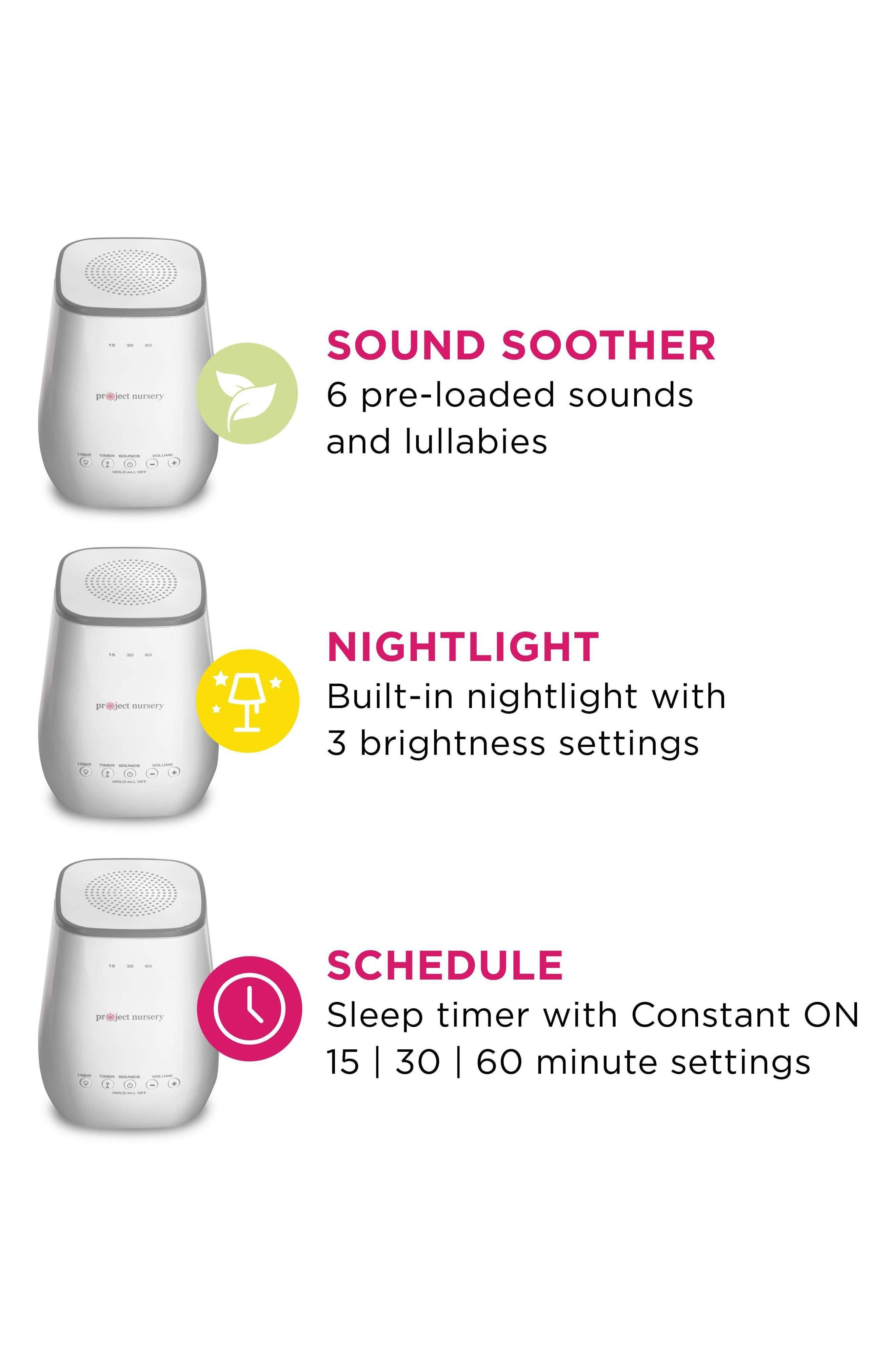 PROJECT NURSERY, Sound Soother with Nightlight, Alternate thumbnail 2, color, WHITE