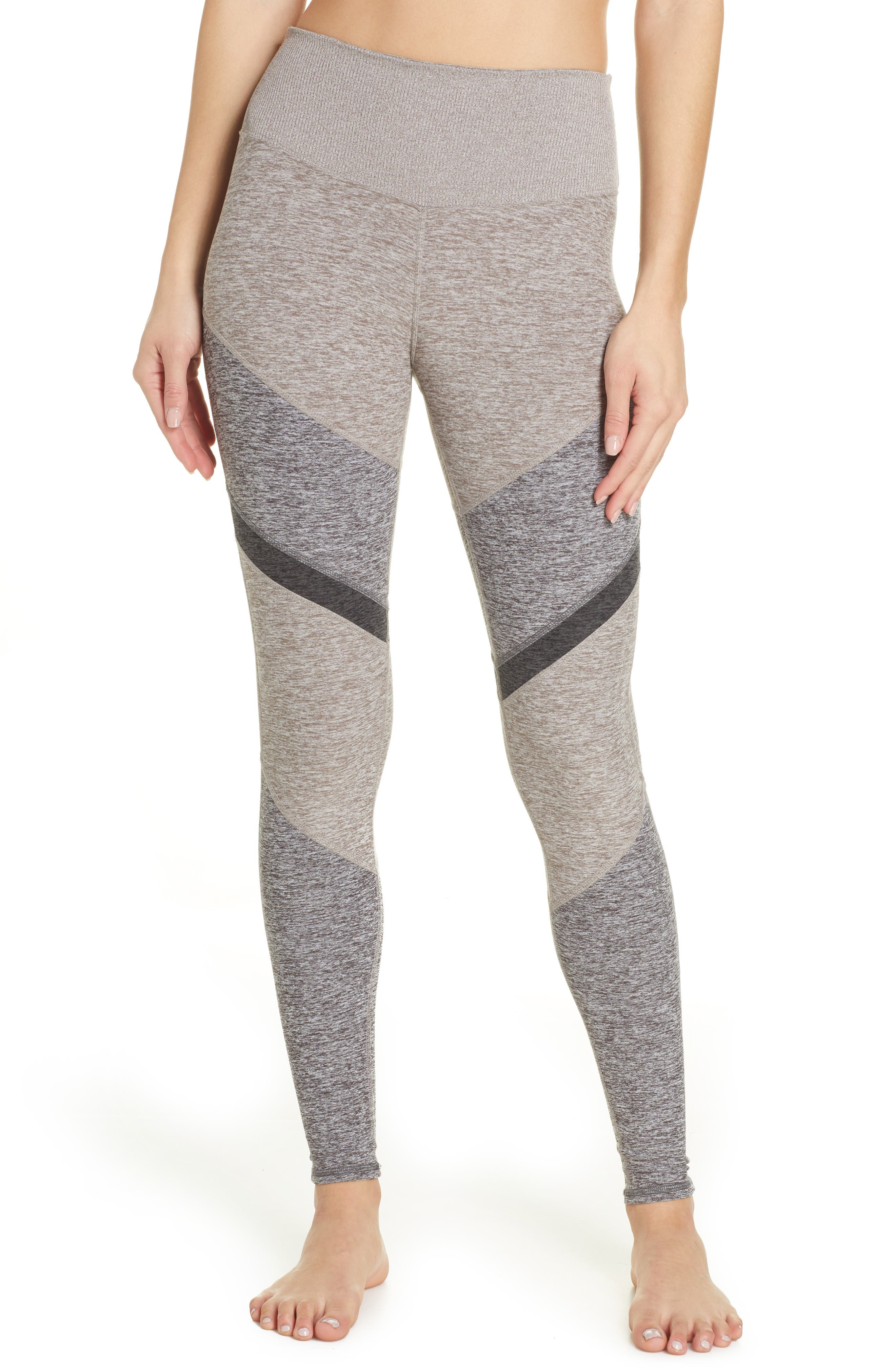 ALO, Sheila Alosoft High Waist Leggings, Main thumbnail 1, color, GRAVEL HEATHER/ DOVE GREY