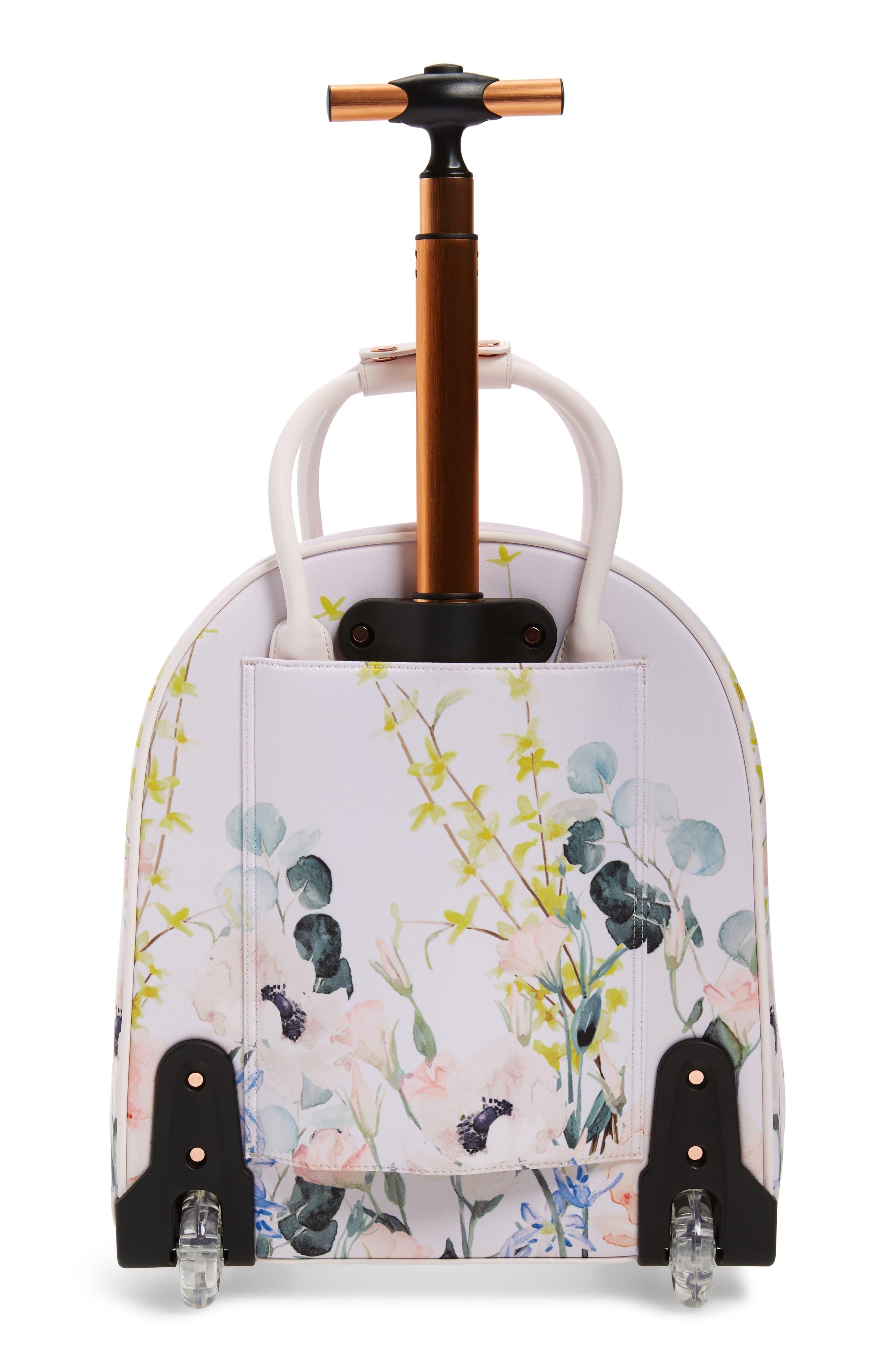 TED BAKER LONDON, Elianna Elegant Travel Bag, Alternate thumbnail 4, color, NUDE PINK