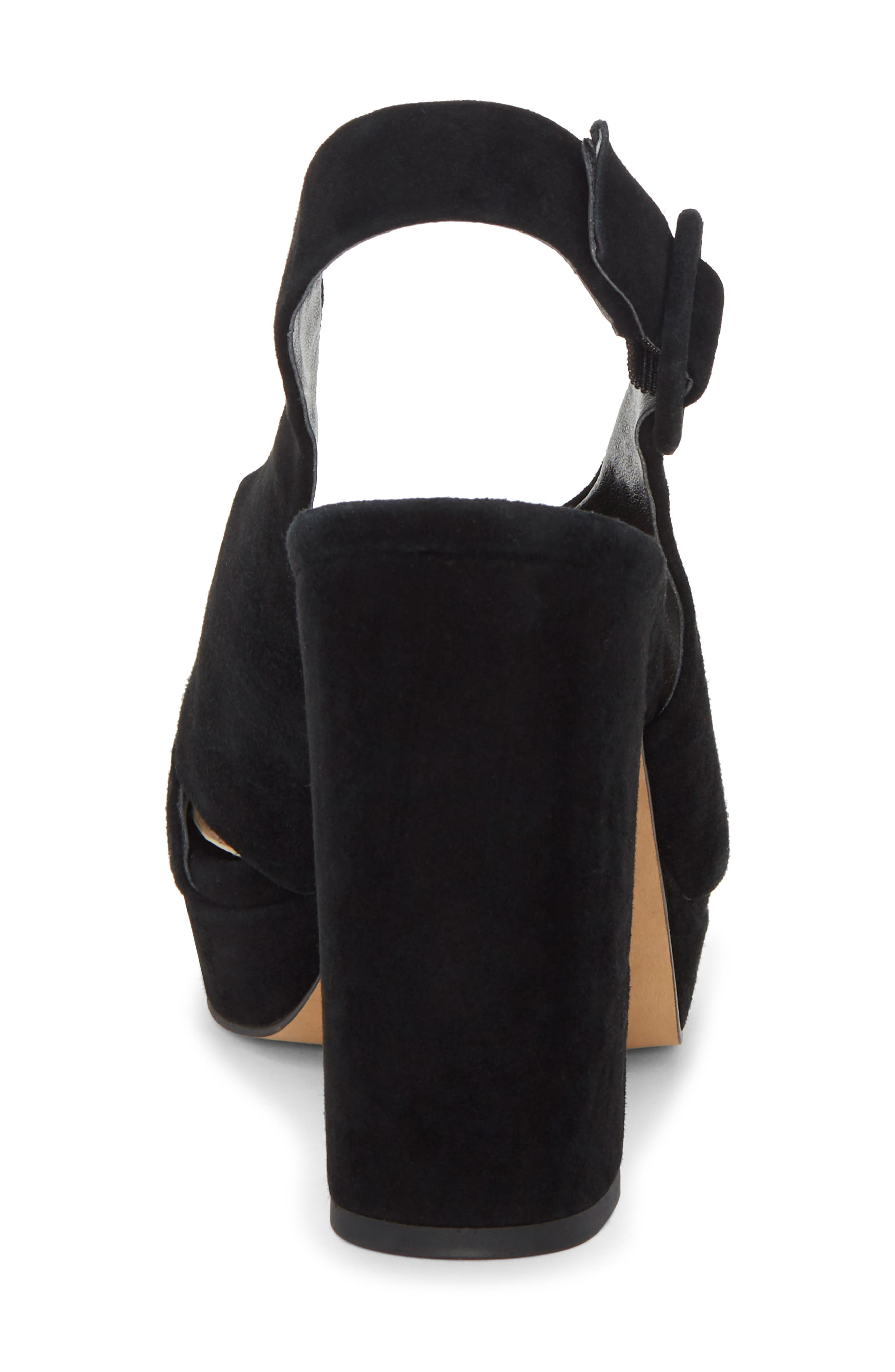 VINCE CAMUTO, Slingback Platform Sandal, Alternate thumbnail 7, color, BLACK 01 SUEDE