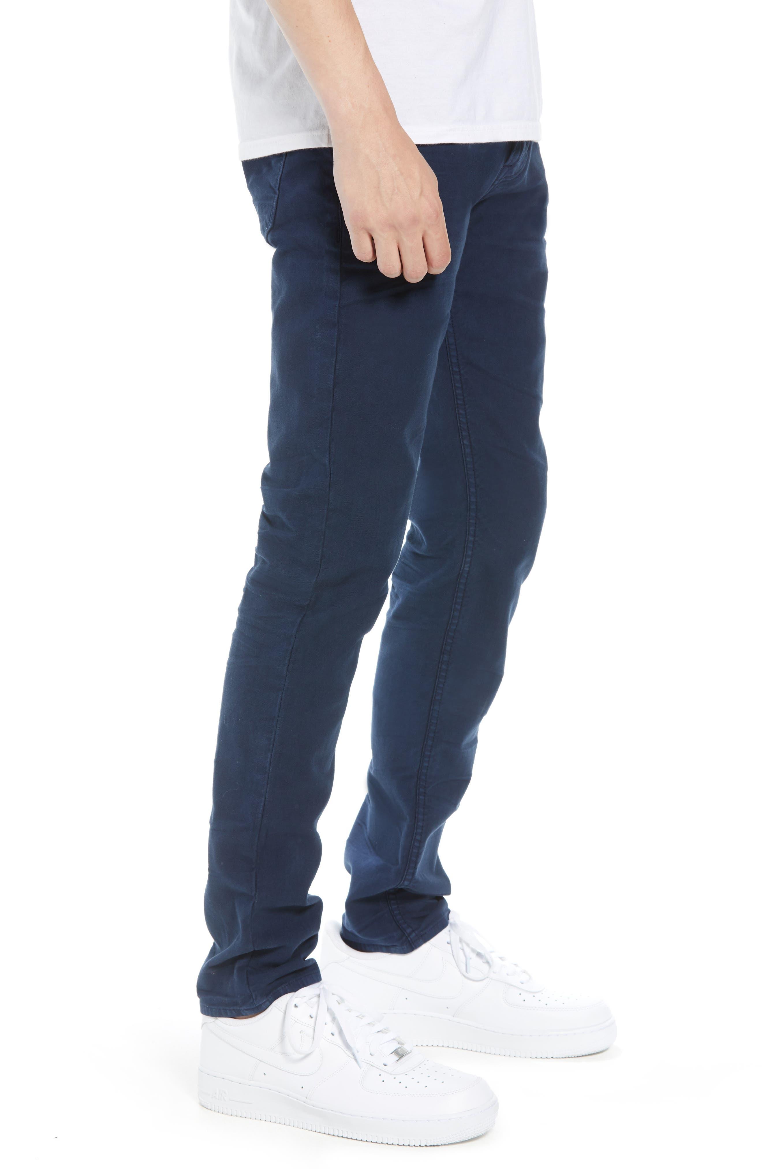HUDSON JEANS, Axl Skinny Fit Jeans, Alternate thumbnail 3, color, SAILOR BLUE