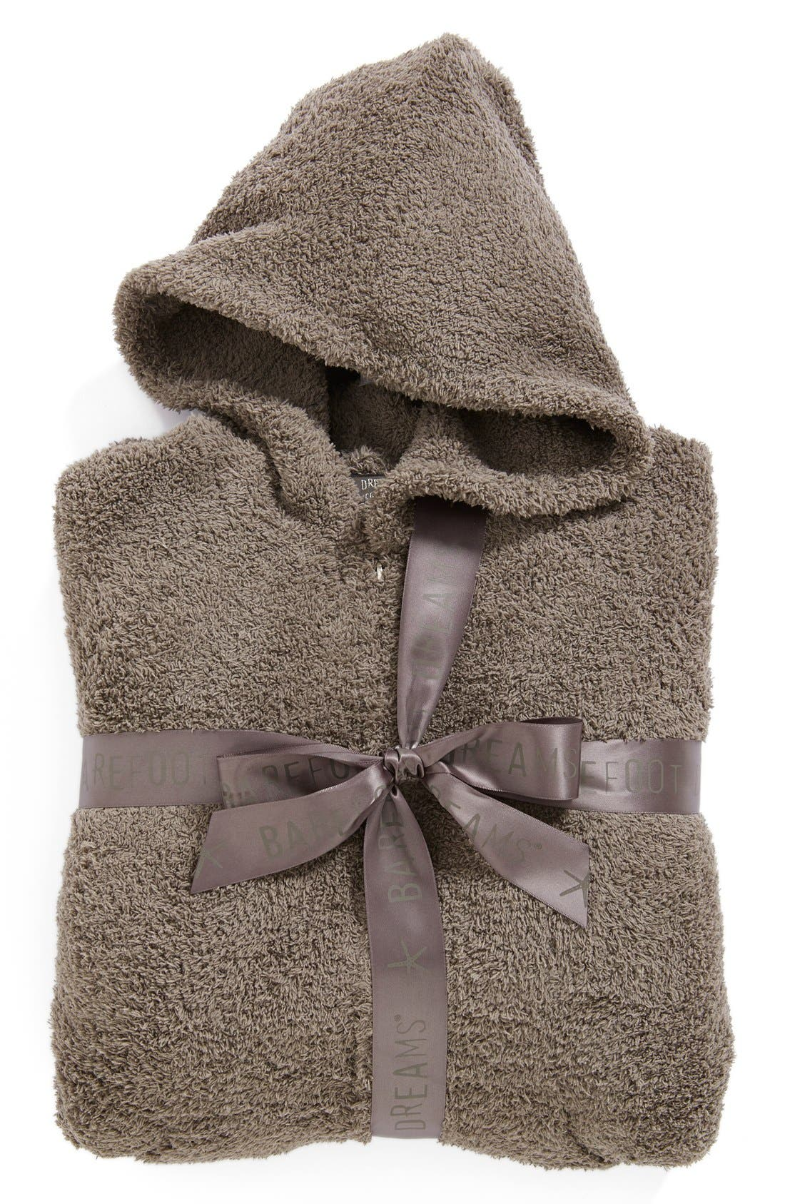 BAREFOOT DREAMS<SUP>®</SUP>, CozyChic<sup>®</sup> Hooded Zip Robe, Alternate thumbnail 9, color, 020