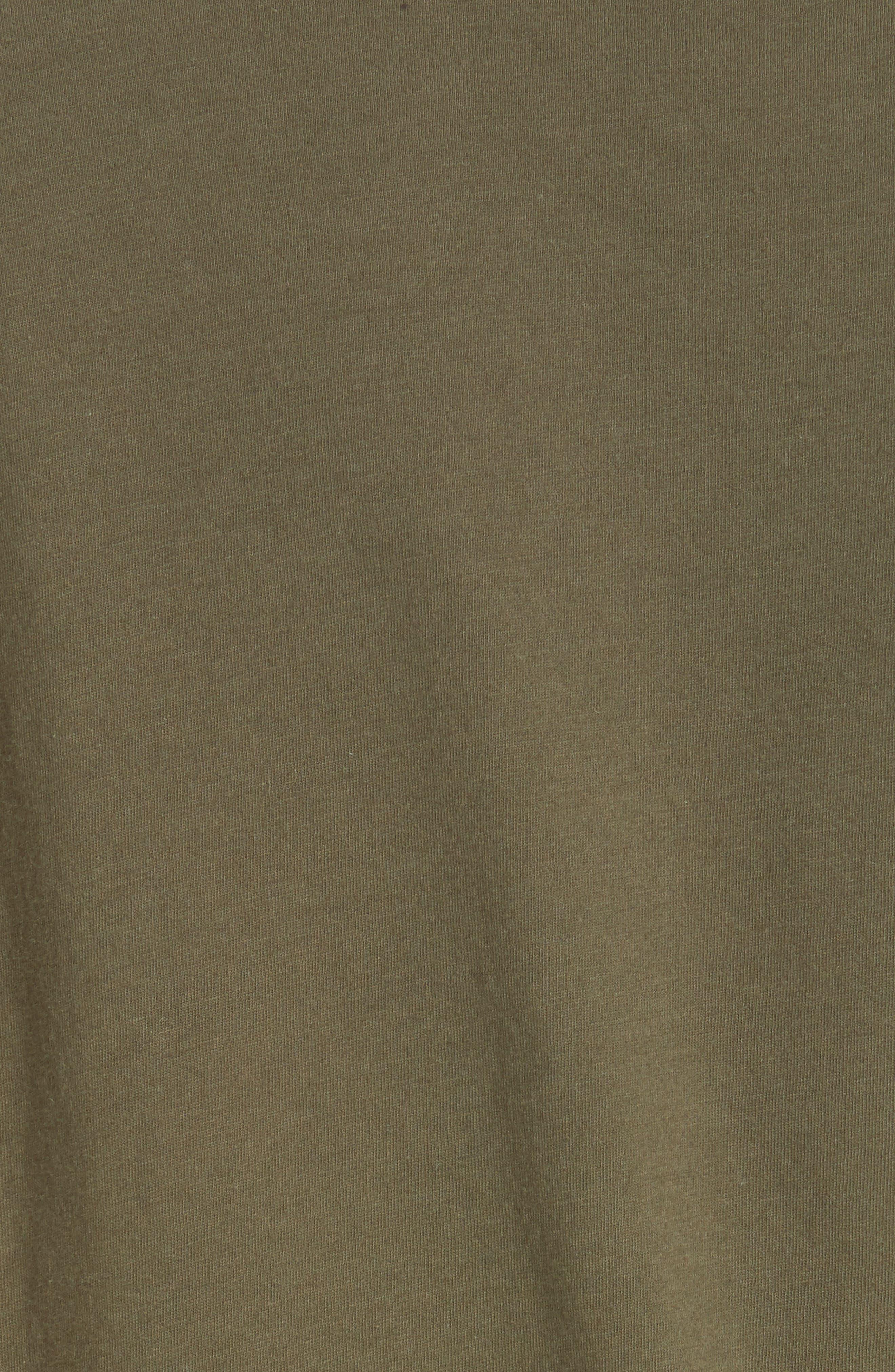 NILI LOTAN, Cotton Muscle Tee, Alternate thumbnail 5, color, ARMY GREEN