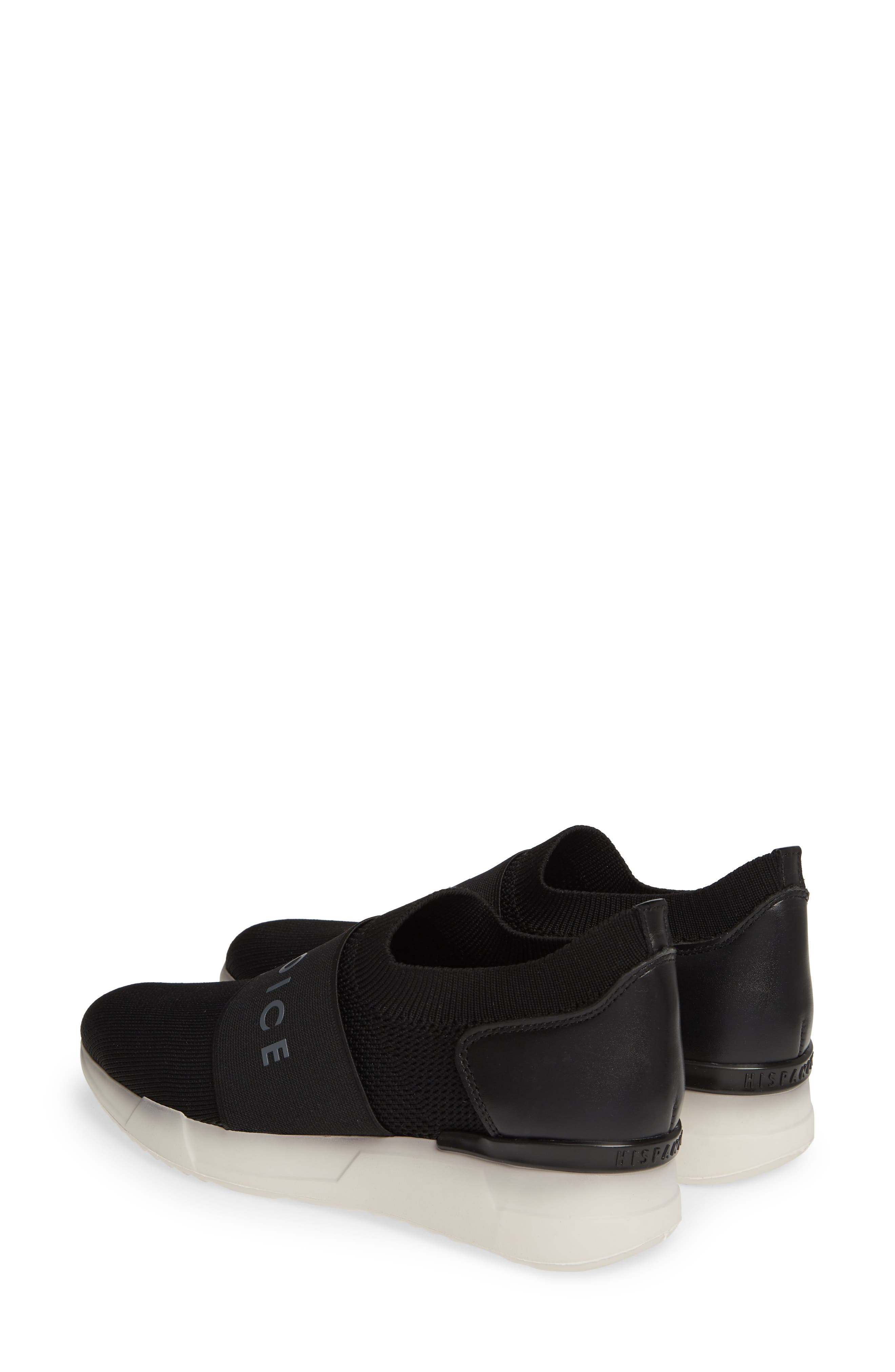 HISPANITAS, Spence Joy Is Choice Sock-Knit Sneaker, Alternate thumbnail 3, color, BLACK/ WHITE FABRIC