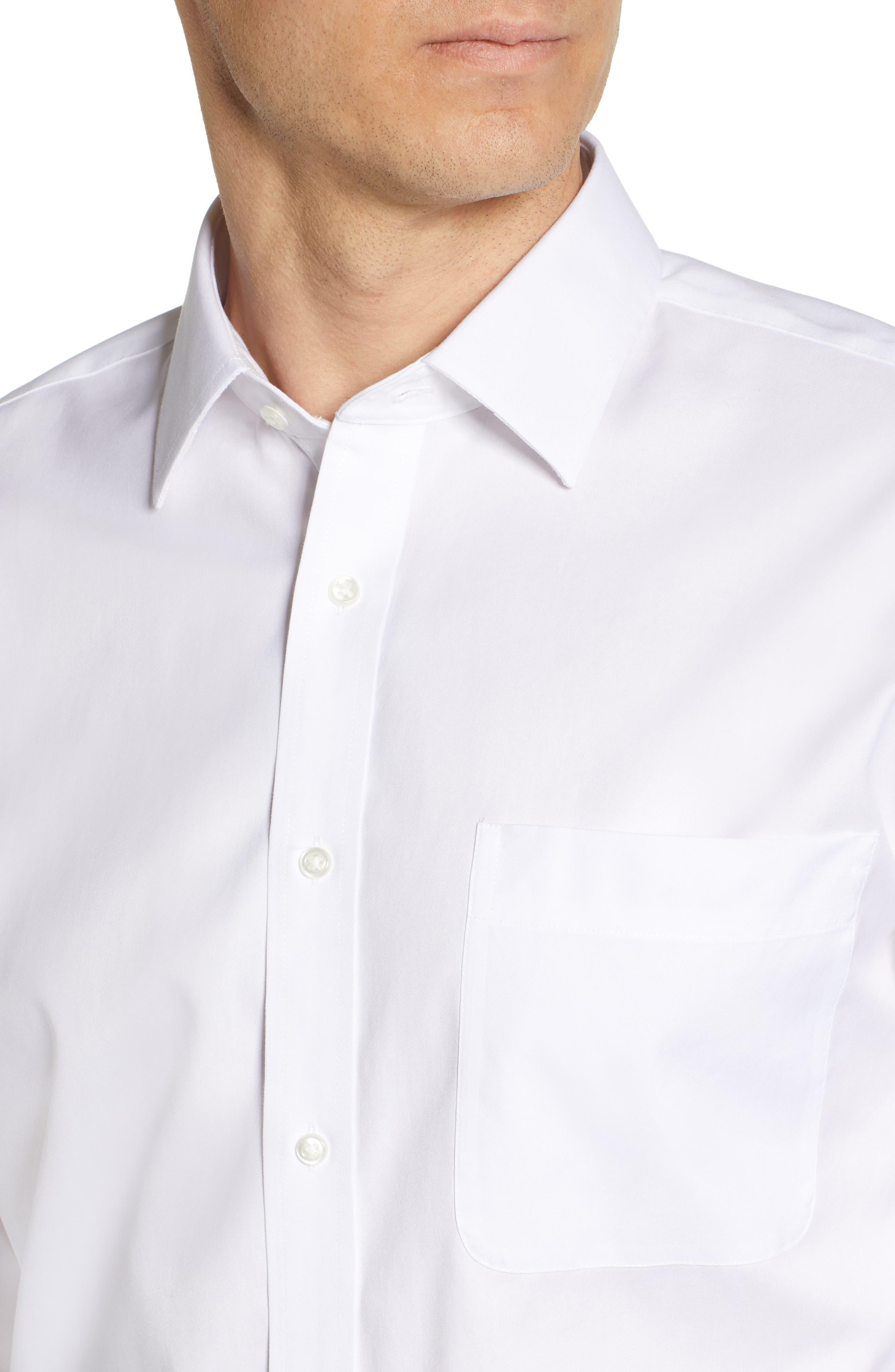 NORDSTROM MEN'S SHOP, Smartcare<sup>™</sup> Classic Fit Solid Dress Shirt, Alternate thumbnail 2, color, WHITE BRILLIANT
