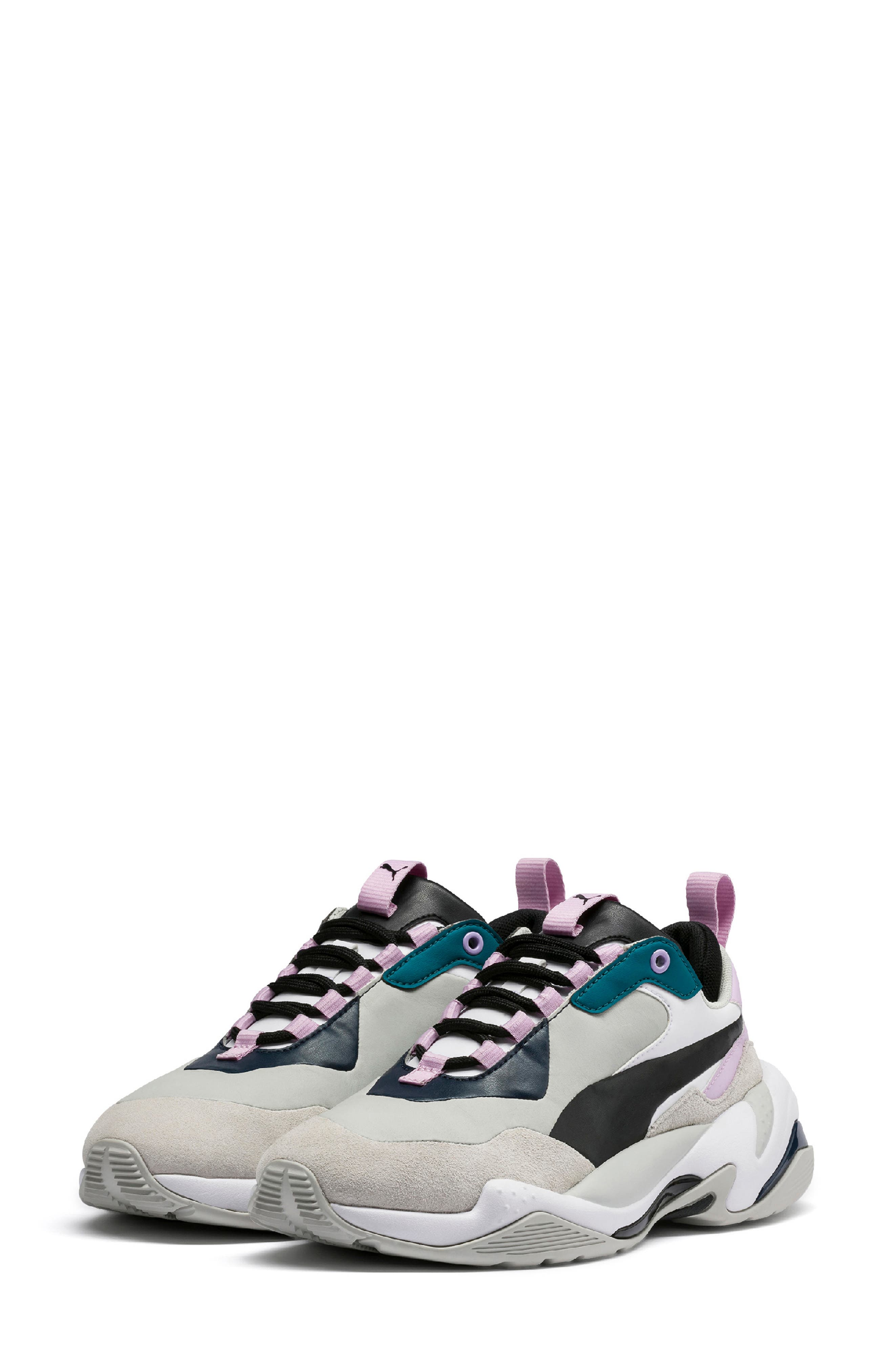 PUMA, Thunder Electric Sneaker, Main thumbnail 1, color, DEEP LAGOON/ ORCHID BLOOM