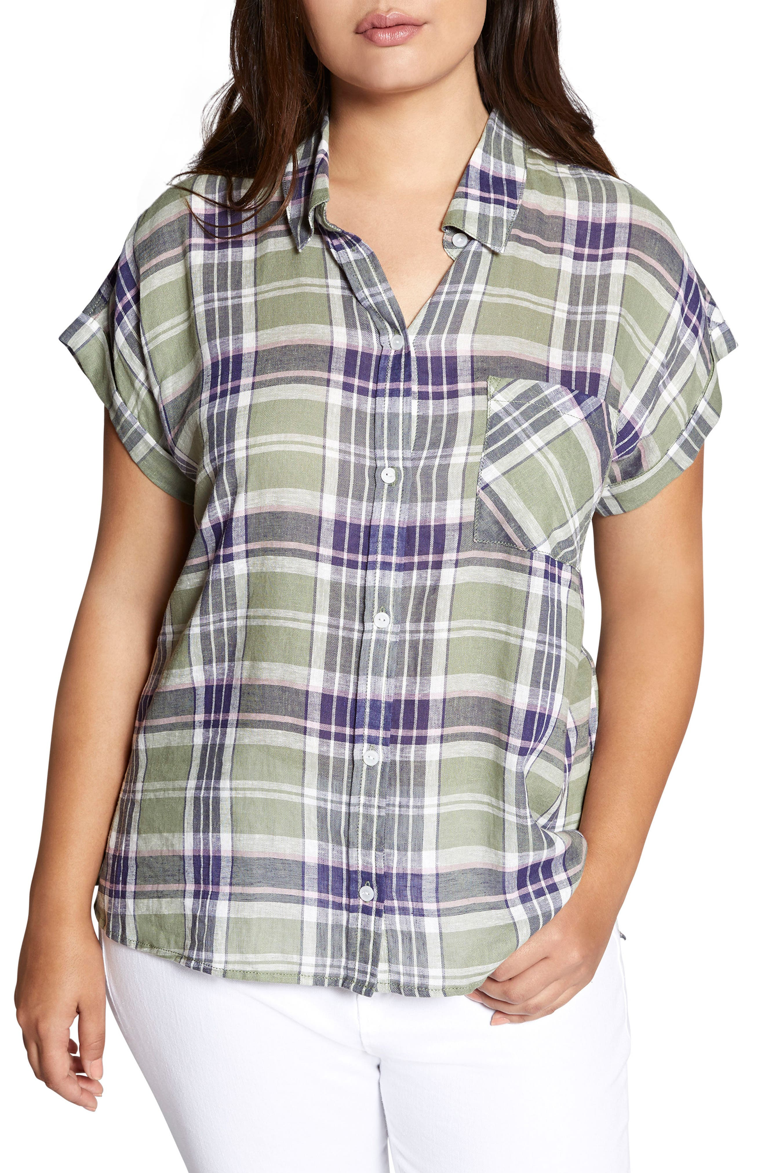 SANCTUARY, Mod Short Sleeve Boyfriend Shirt, Main thumbnail 1, color, 658