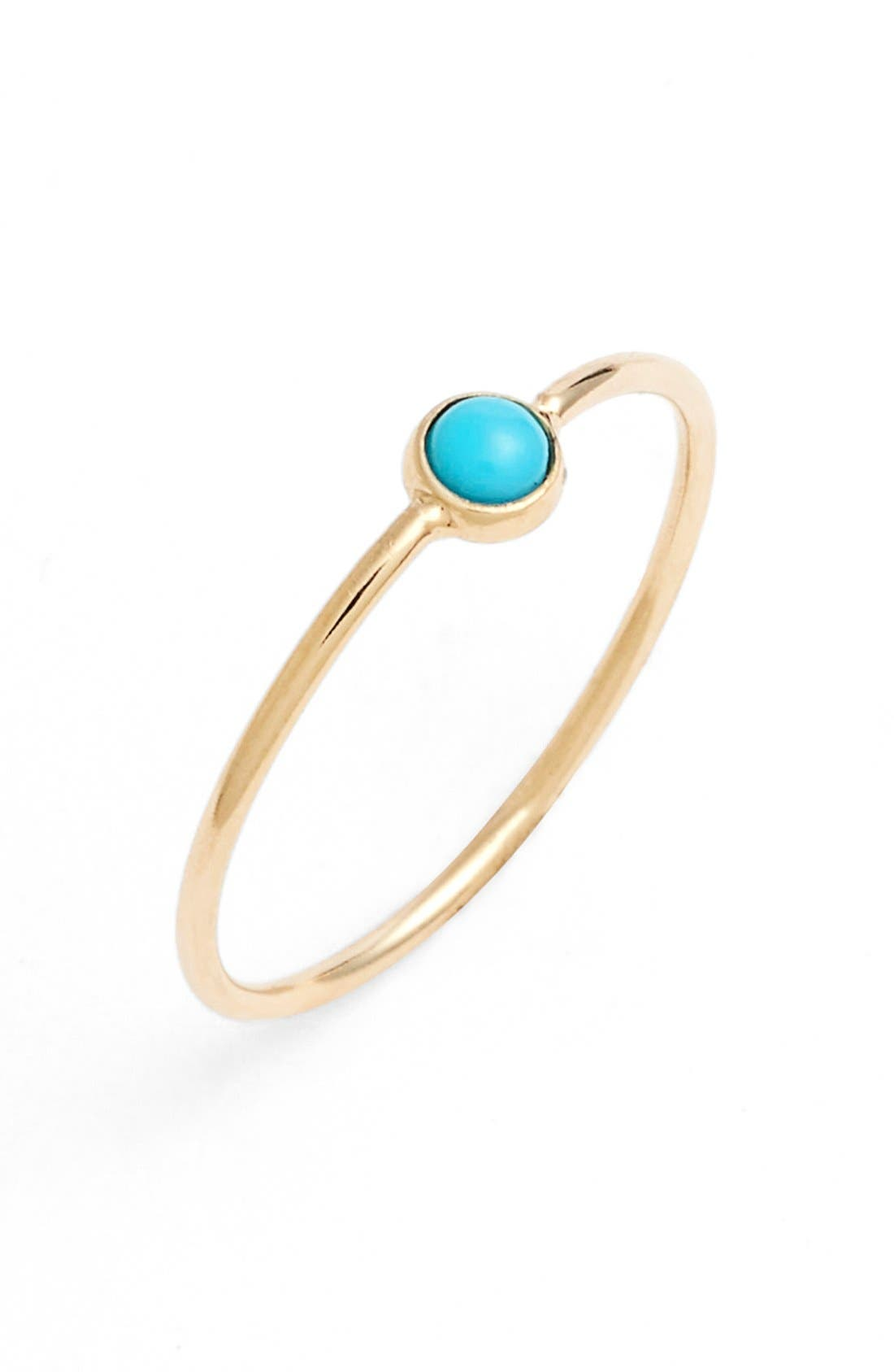 ZOË CHICCO, Turquoise Stacking Ring, Main thumbnail 1, color, TURQUOISE