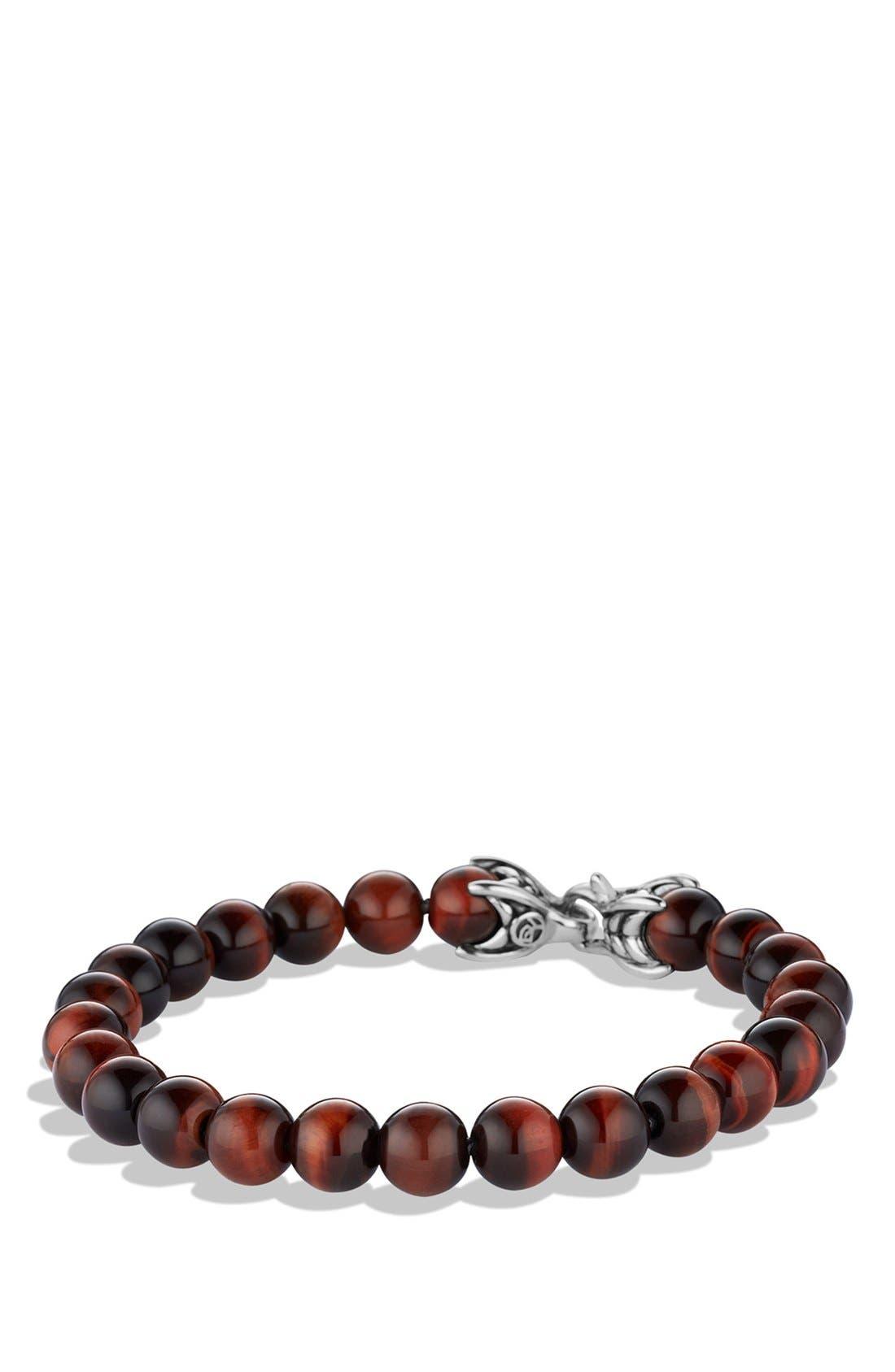 DAVID YURMAN, 'Spiritual Beads' Bracelet with Tiger's Eye, Main thumbnail 1, color, TIGER EYE