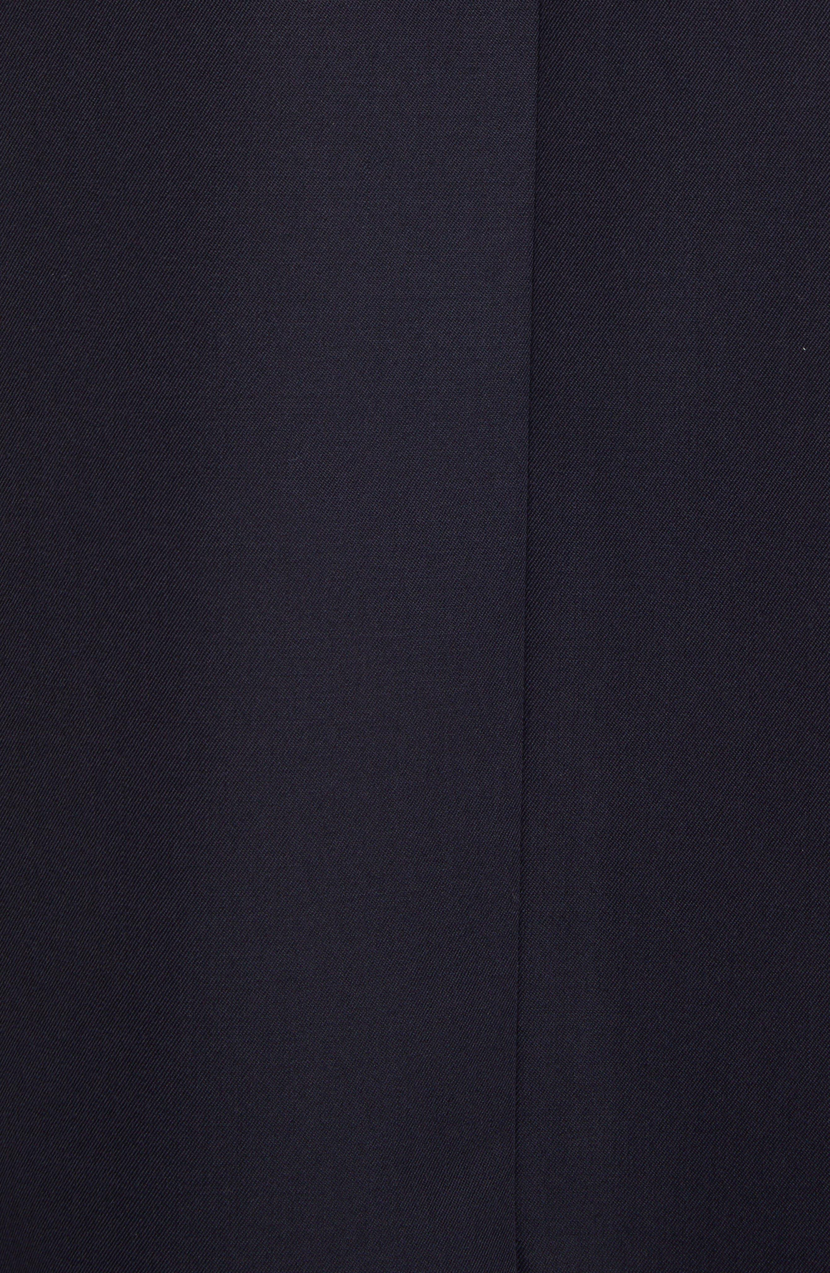 VALENTINO, V-Detail Wool Gabardine Jacket, Alternate thumbnail 5, color, NAVY