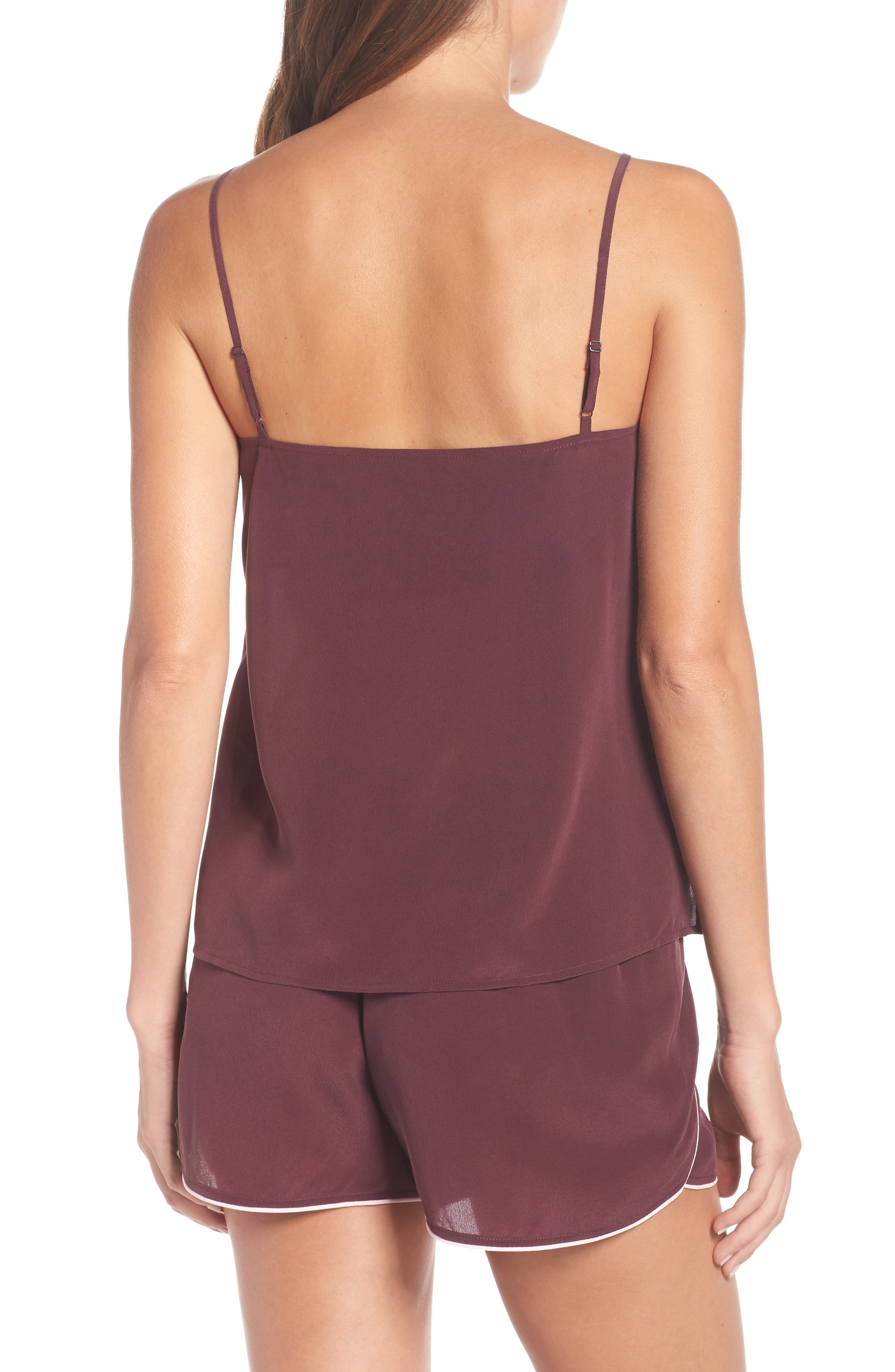 UGG<SUP>®</SUP>, Vita Silk Camisole, Alternate thumbnail 2, color, PORT