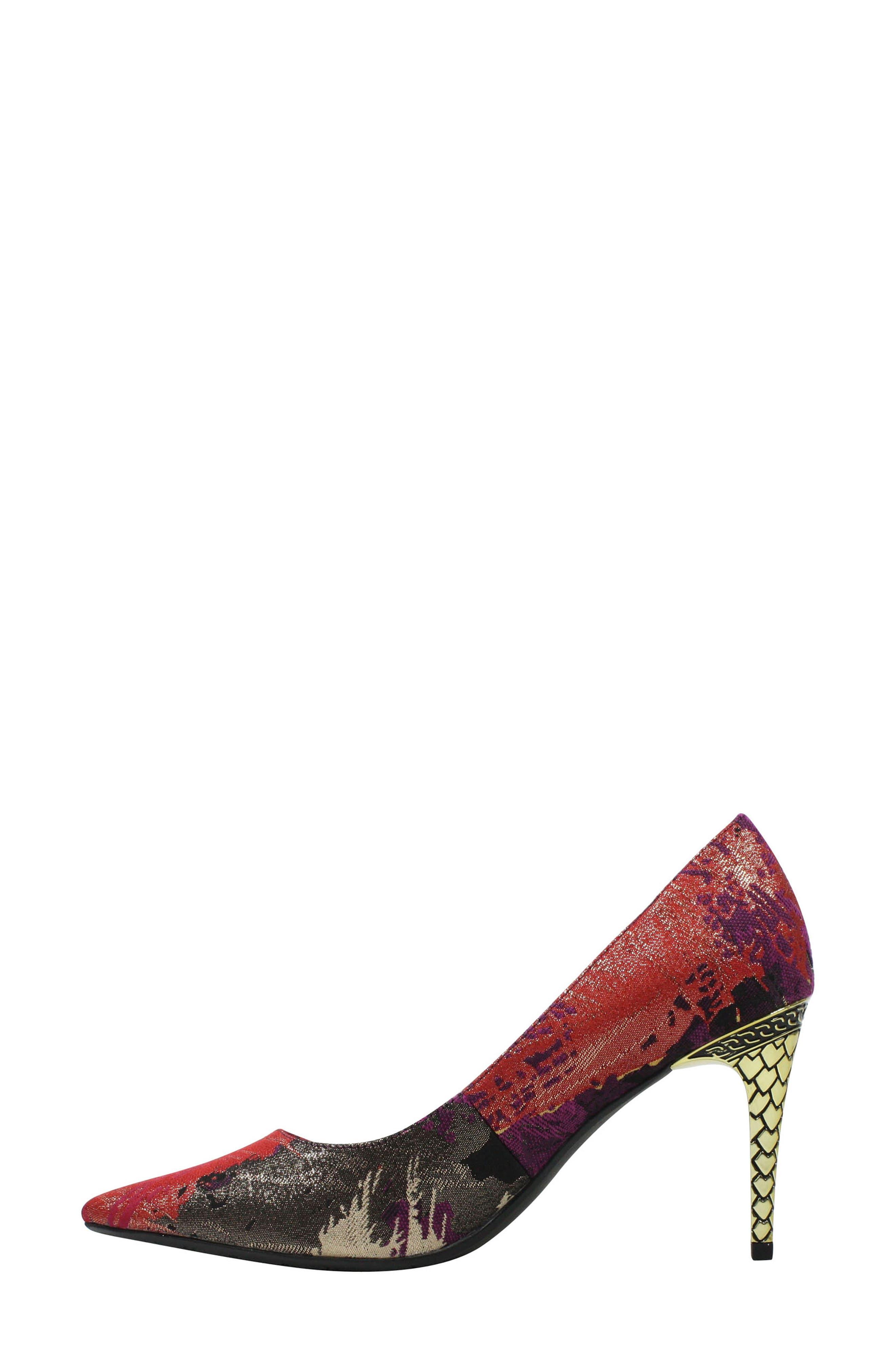 J. RENEÉ, 'Maressa' Pointy Toe Pump, Alternate thumbnail 7, color, PURPLE/ BLACK MULTI