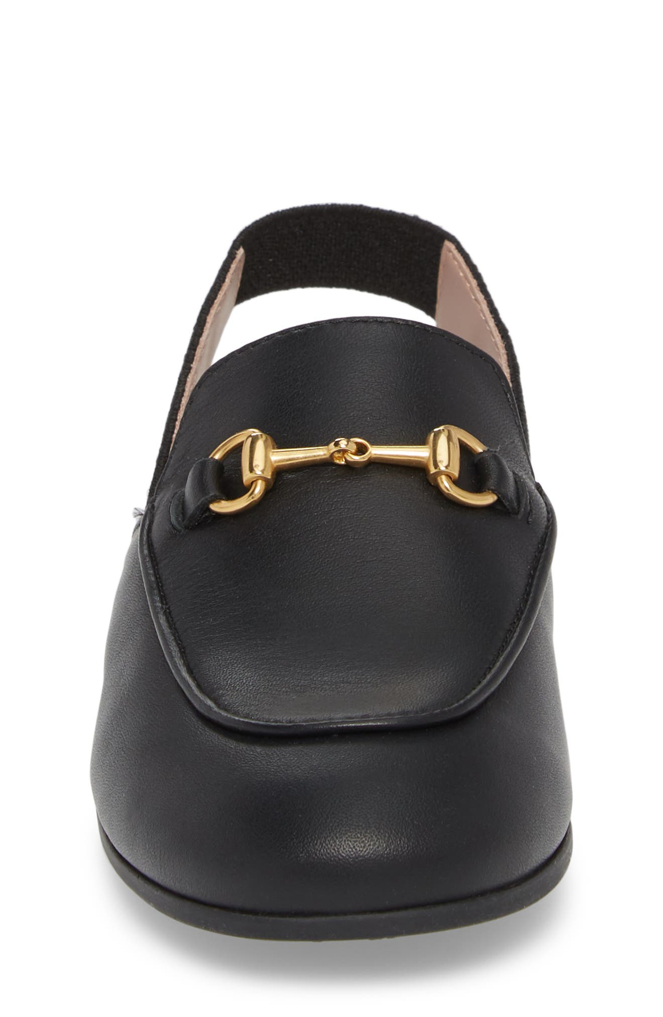 GUCCI, Princetown Loafer Mule, Alternate thumbnail 4, color, BLACK/ BLACK