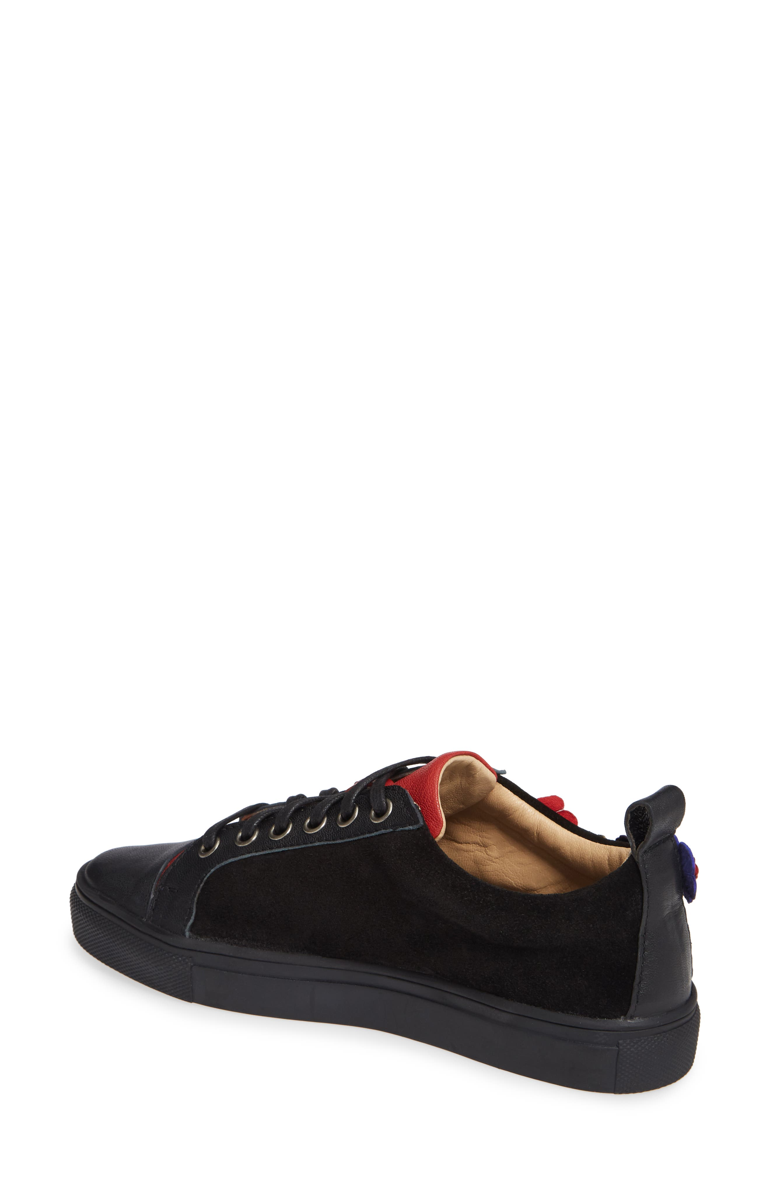 SHERIDAN MIA, Satyr Sneaker, Alternate thumbnail 2, color, BLACK LEATHER