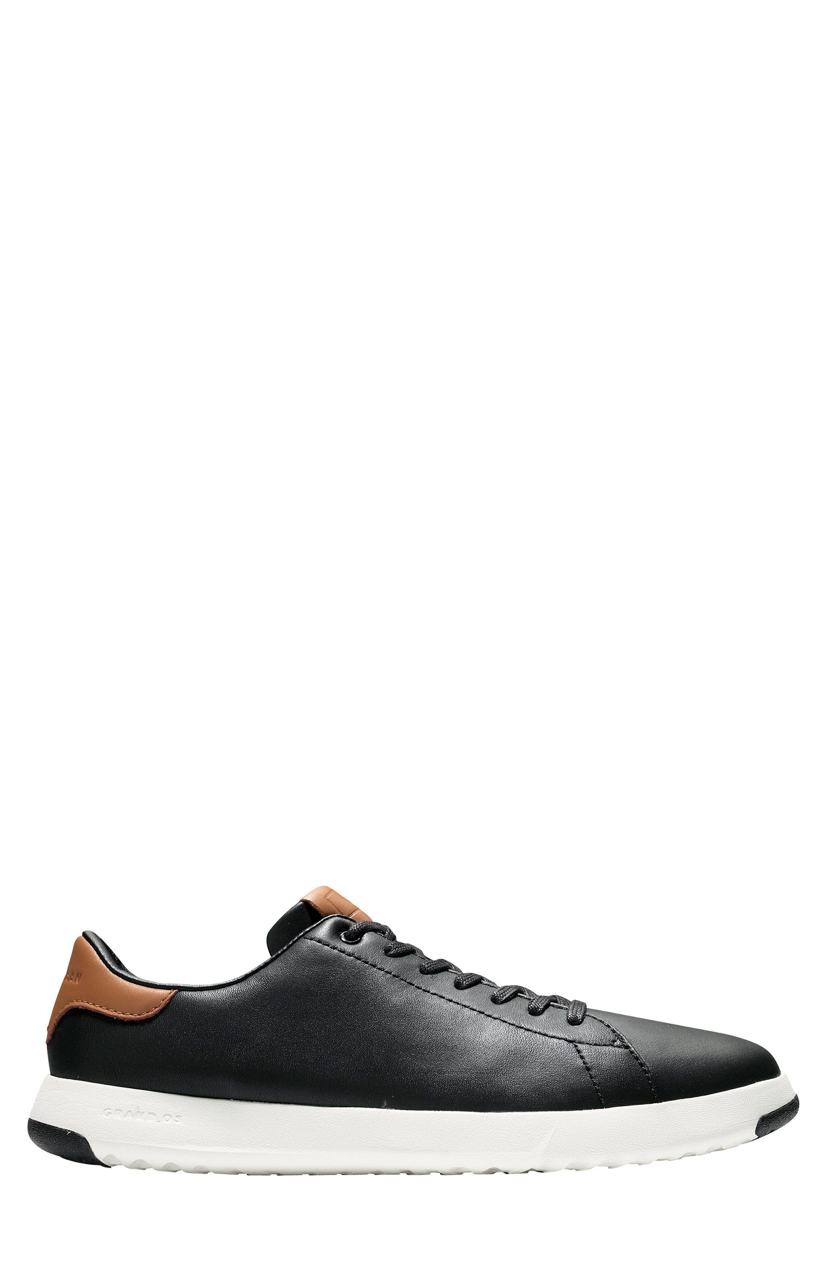 COLE HAAN, GrandPro Tennis Sneaker, Alternate thumbnail 3, color, BLACK/ BRITISH TAN