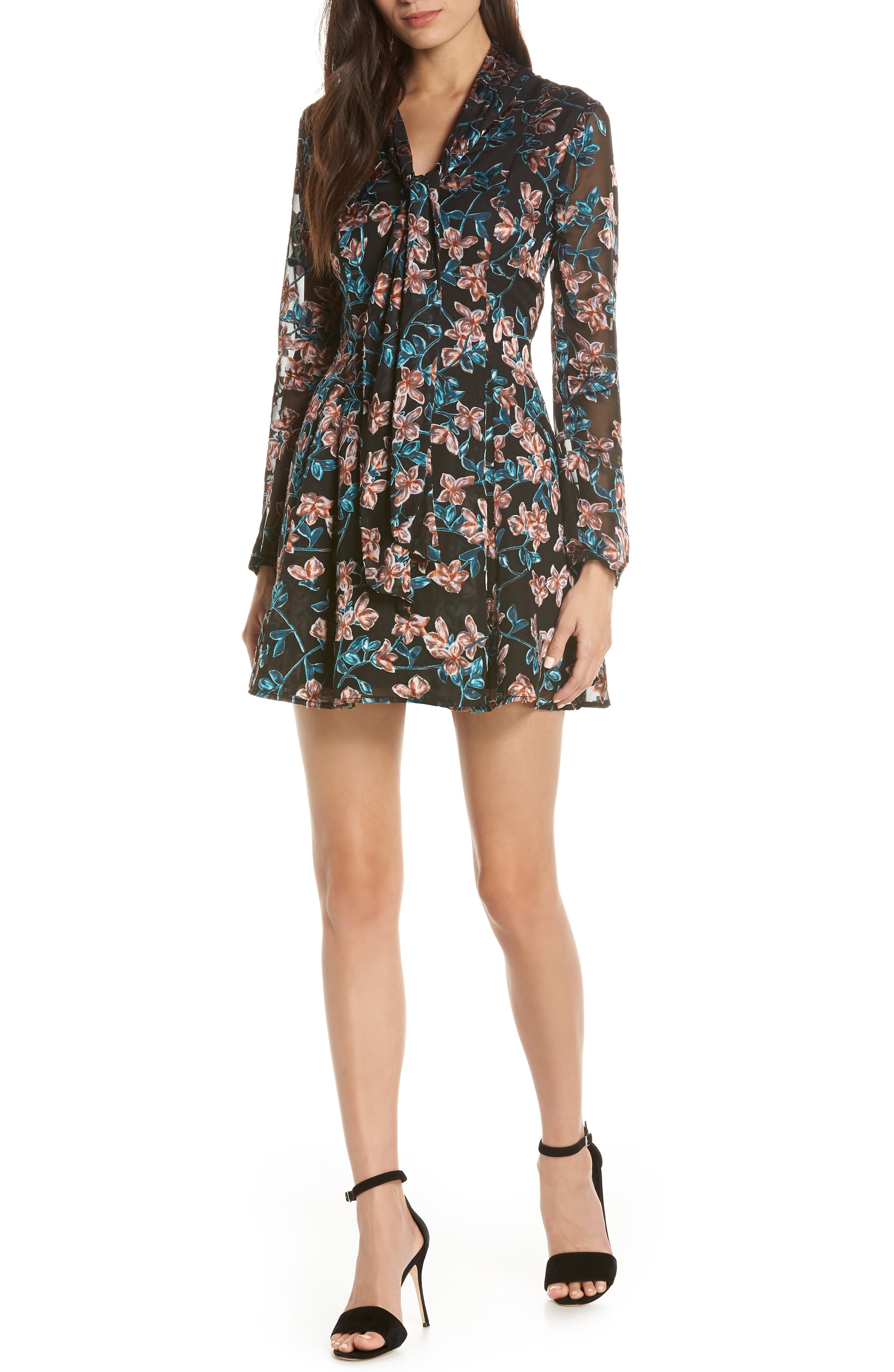 ALI & JAY Maybe It's Love Minidress, Main, color, FLORAL BURNOUT