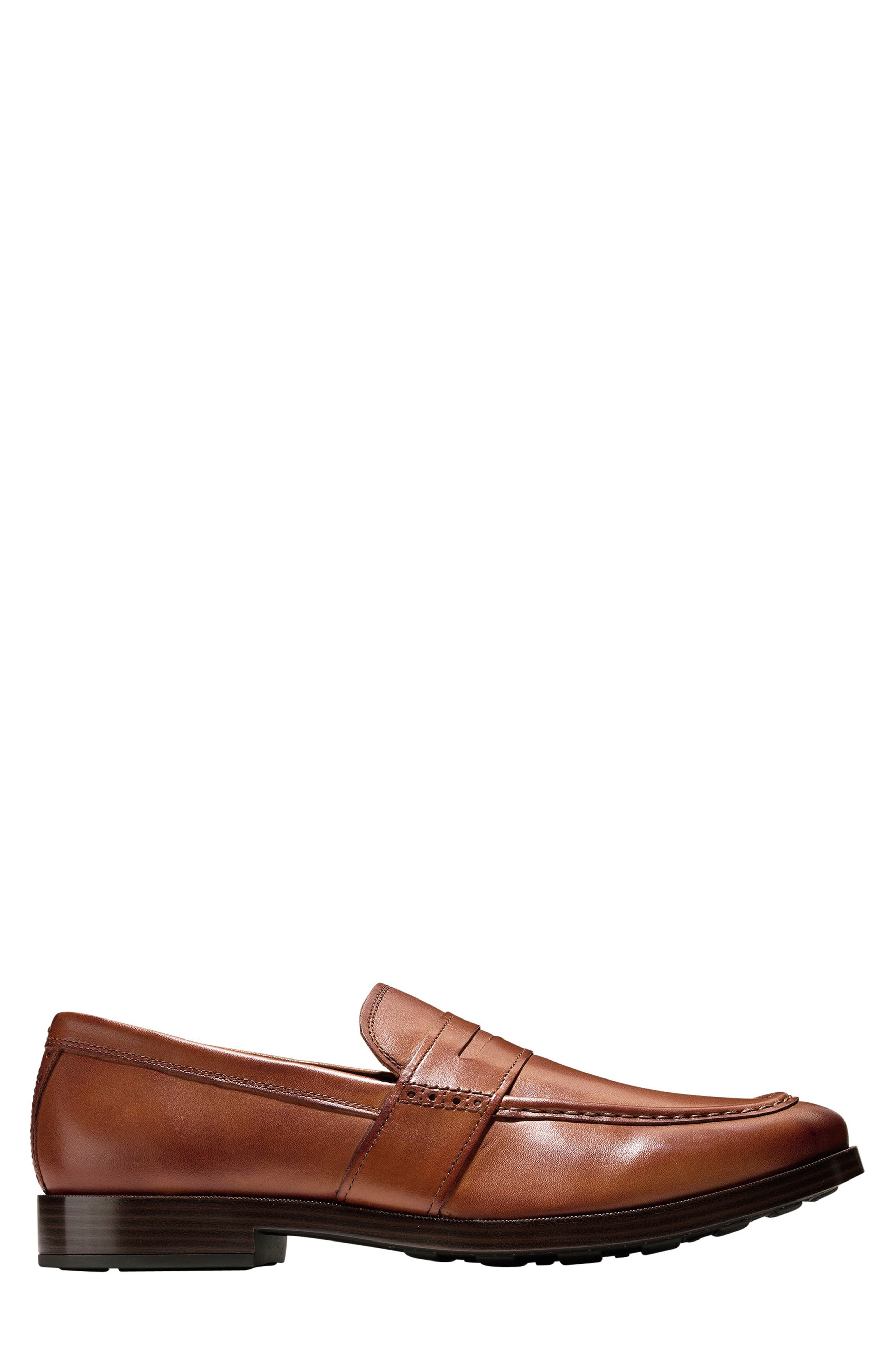 COLE HAAN, Jefferson Grand Penny Loafer, Alternate thumbnail 3, color, BRITISH TAN LEATHER