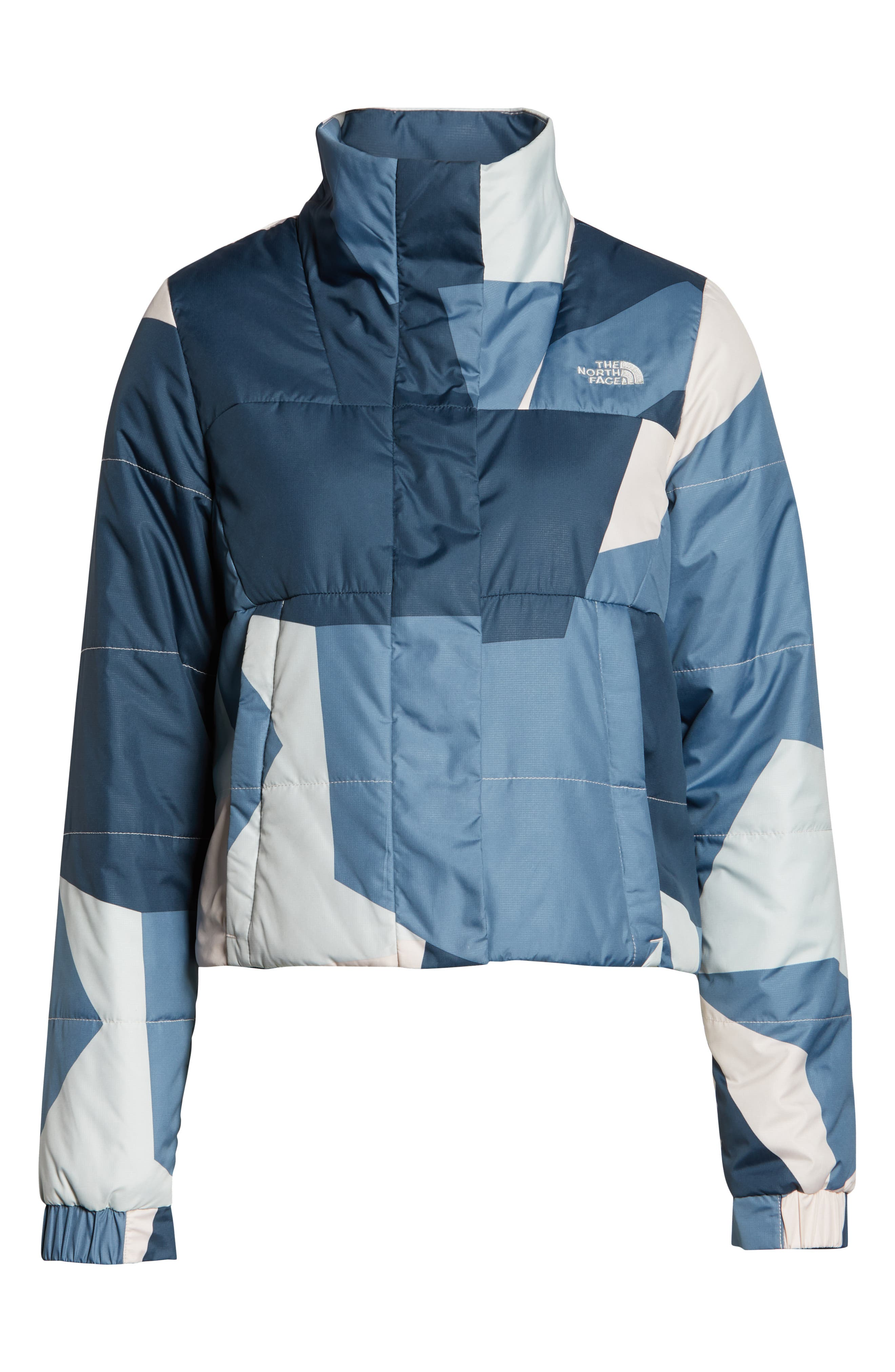 THE NORTH FACE, Femtastic Heatseeker Insulated Jacket, Alternate thumbnail 6, color, PINK MACRO SPLINTER CAMO PRINT