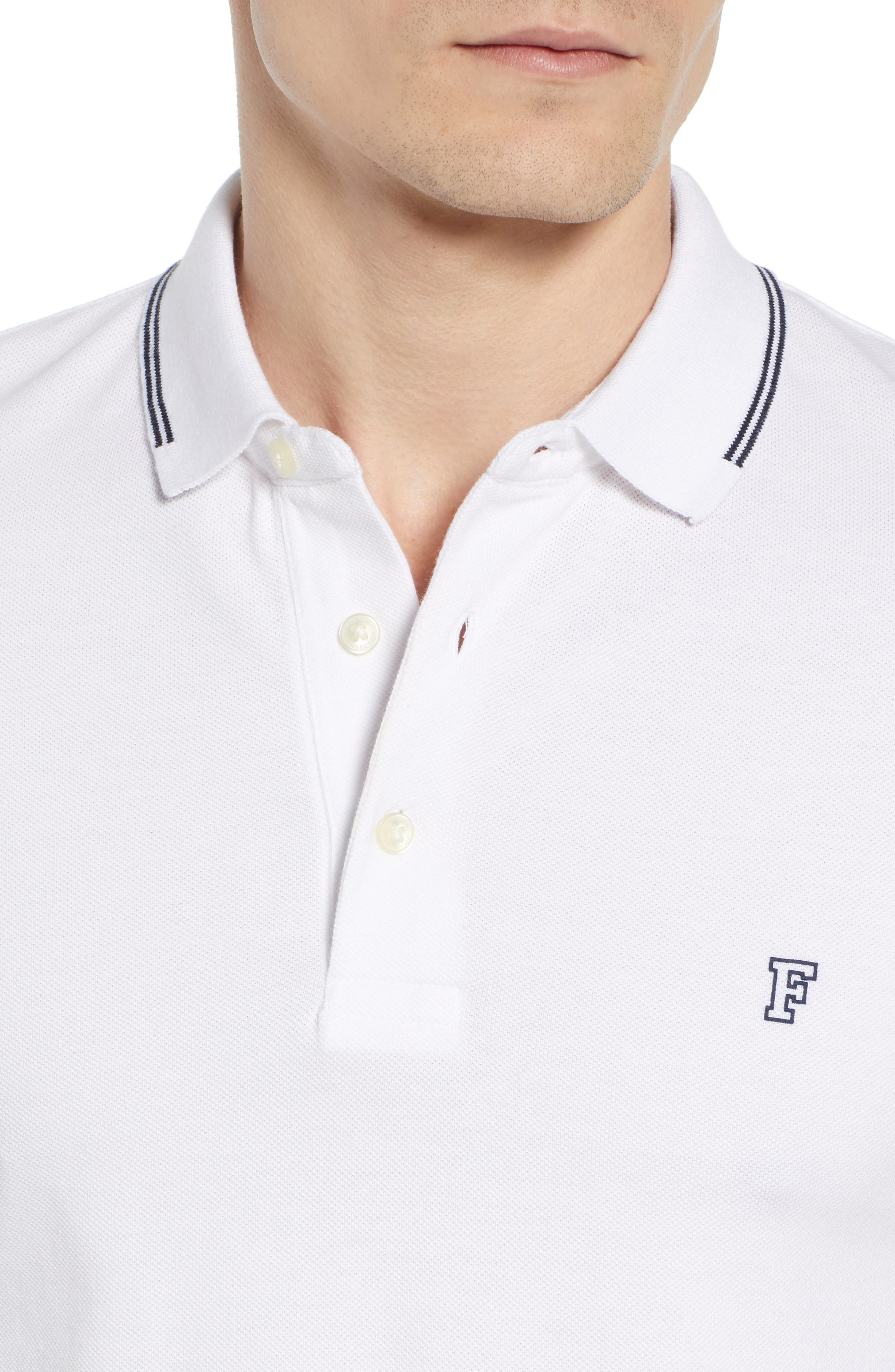 FRENCH CONNECTION, Summer Tipped Polo, Alternate thumbnail 4, color, 121