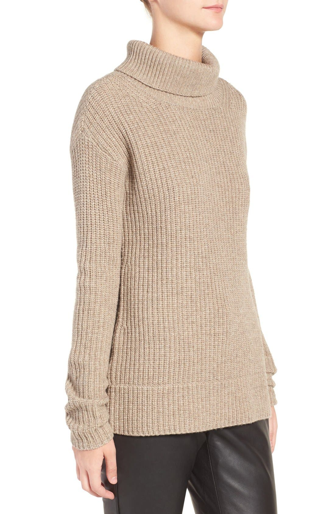 OLIVIA PALERMO + CHELSEA28, Open Back Wool & Cashmere Turtleneck Sweater, Alternate thumbnail 6, color, 235