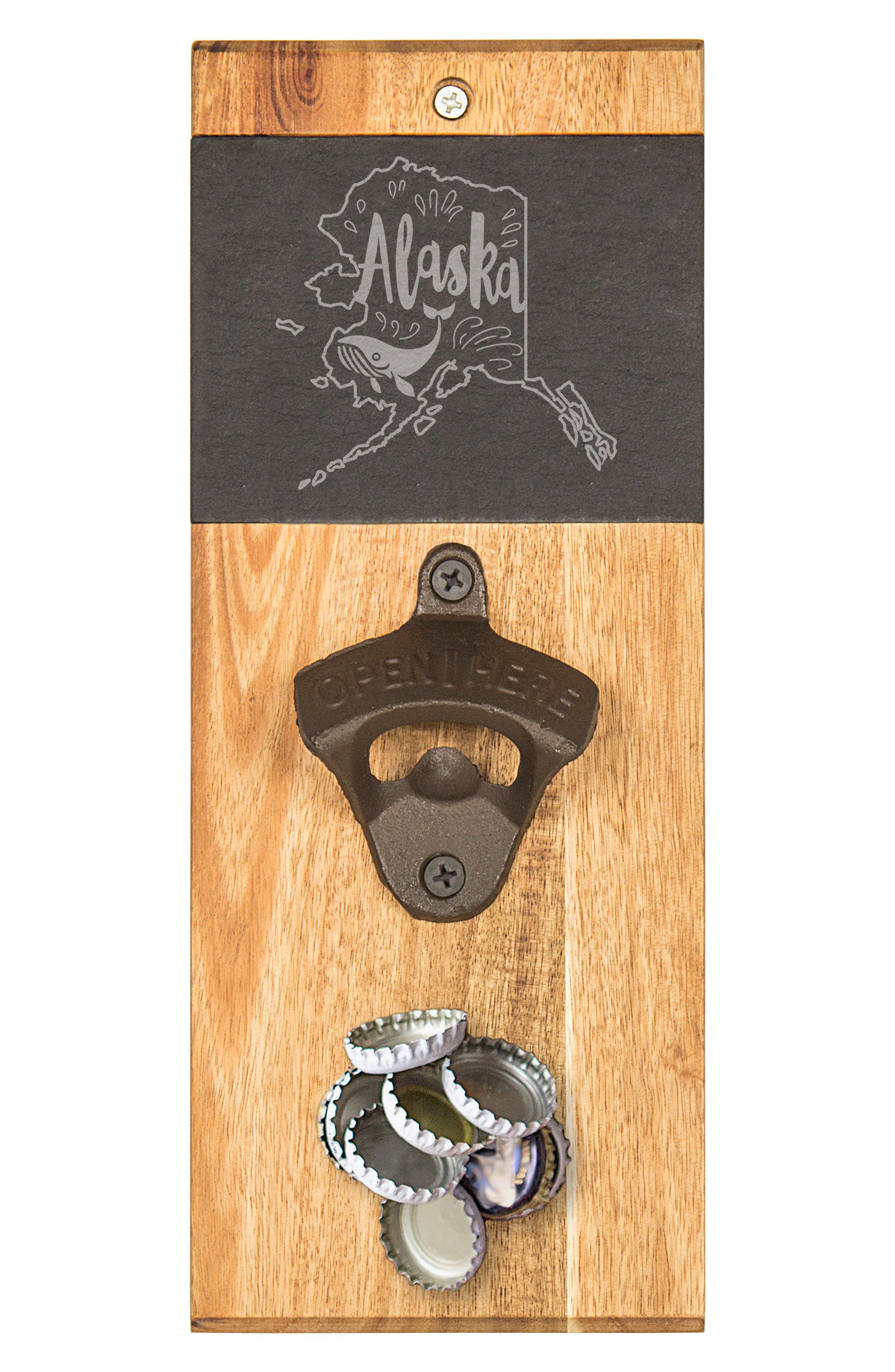 CATHY'S CONCEPTS, My State Wall Bottle Opener, Main thumbnail 1, color, AK