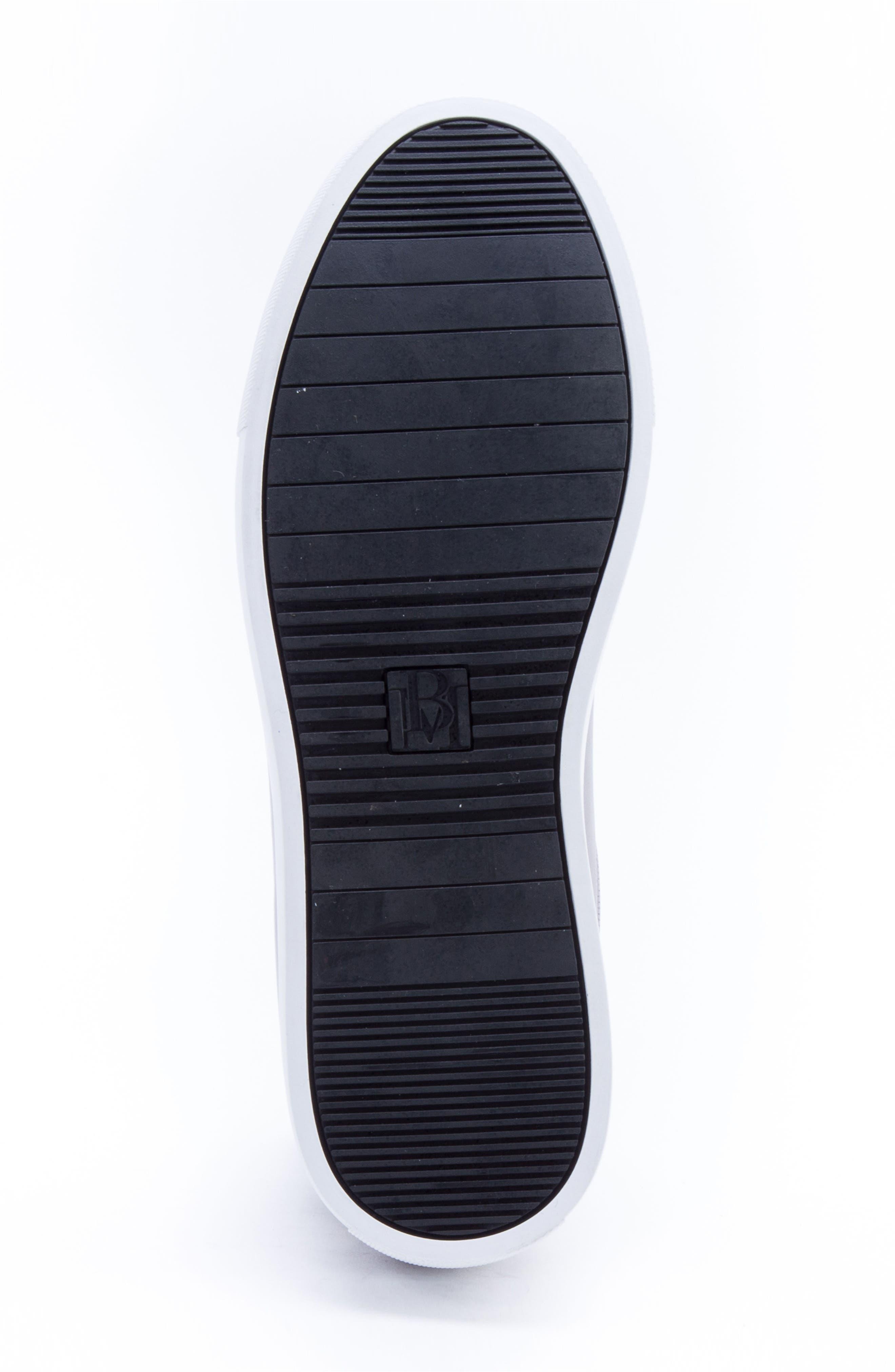BADGLEY MISCHKA COLLECTION, Badgley Mischka Sanders Sneaker, Alternate thumbnail 5, color, GUN METAL LEATHER